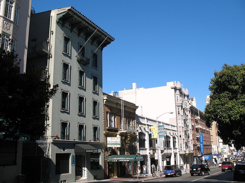 Mid-rise buildings in San Francisco.