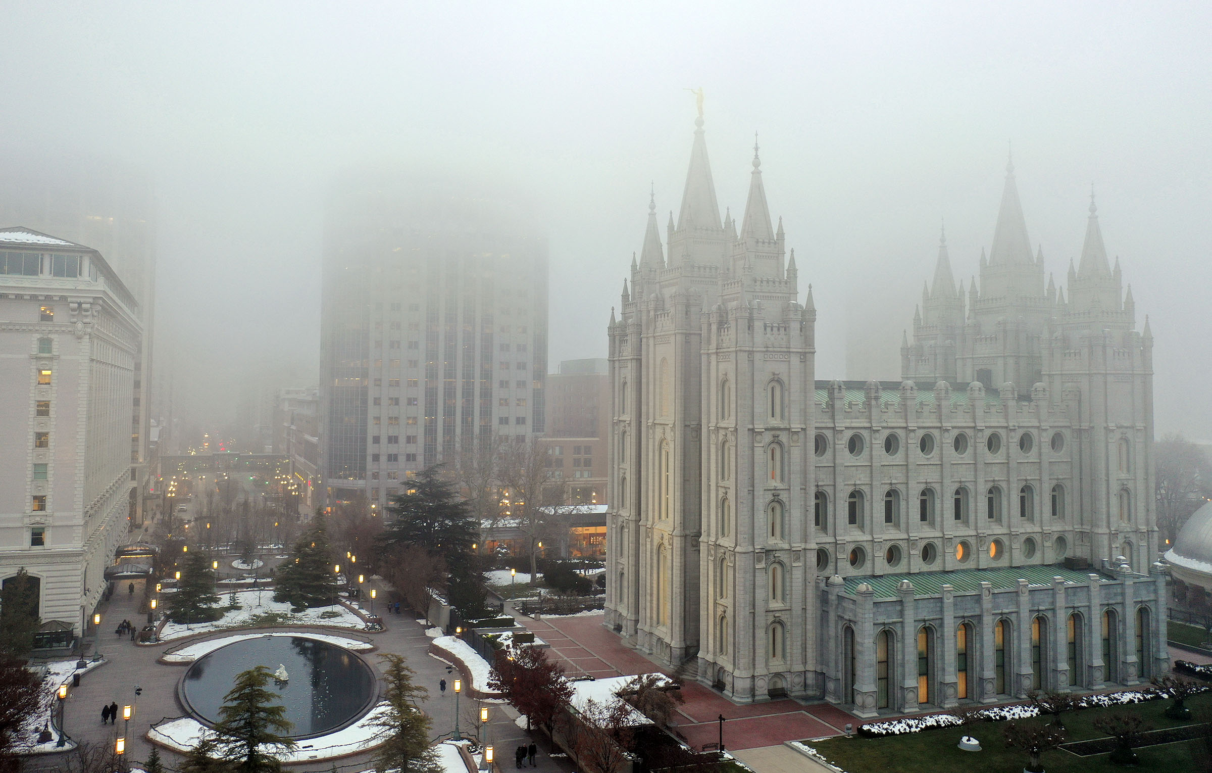 The Salt Lake Temple, which will close Dec. 29 for extensive renovations, is photographed in Salt Lake City on Wednesday, Dec. 4, 2019.