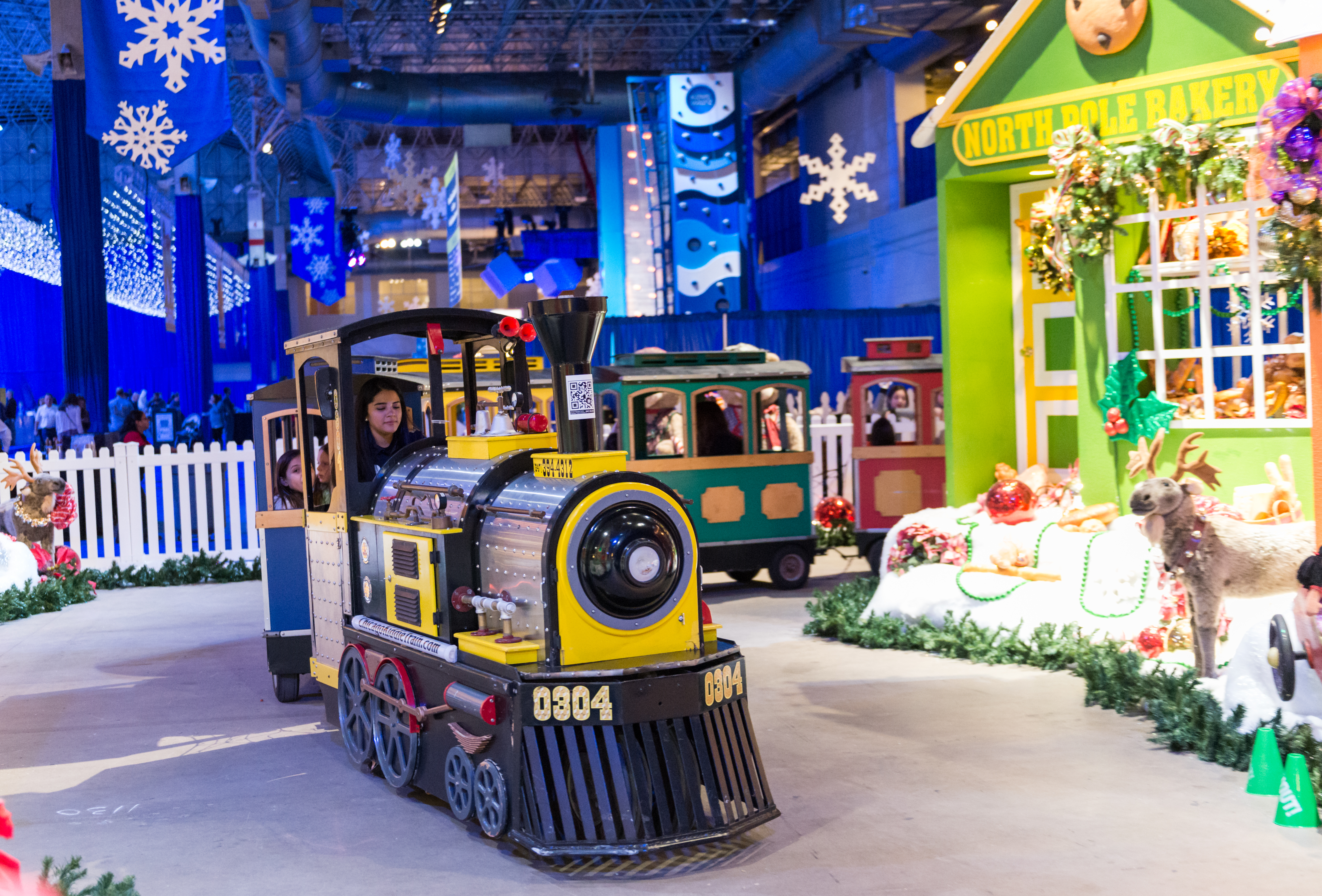 A holiday train is among the family-friendly attractions at Winter Wonderfest at Navy Pier.