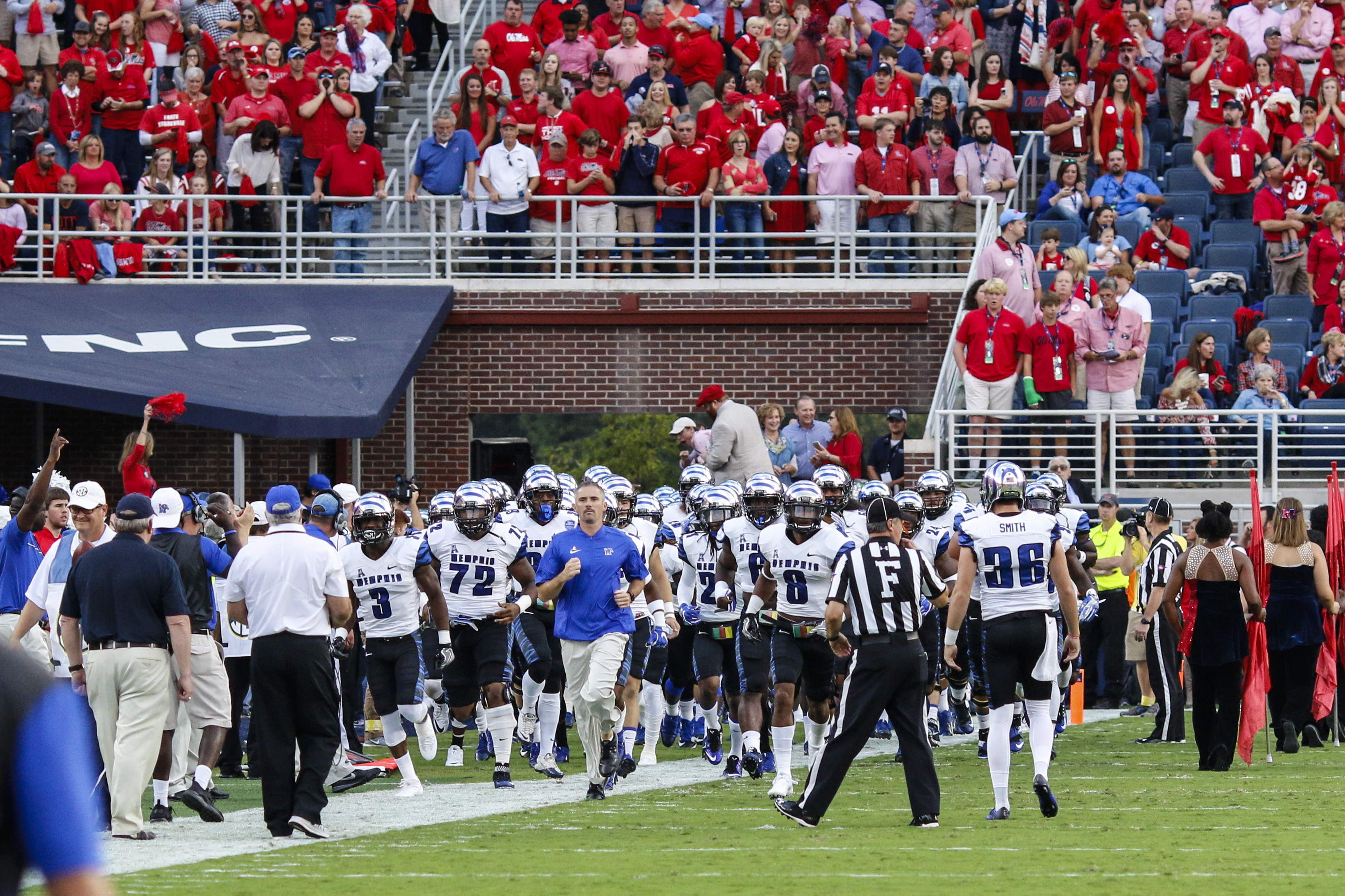 NCAA FOOTBALL: OCT 01 Memphis at Ole Miss