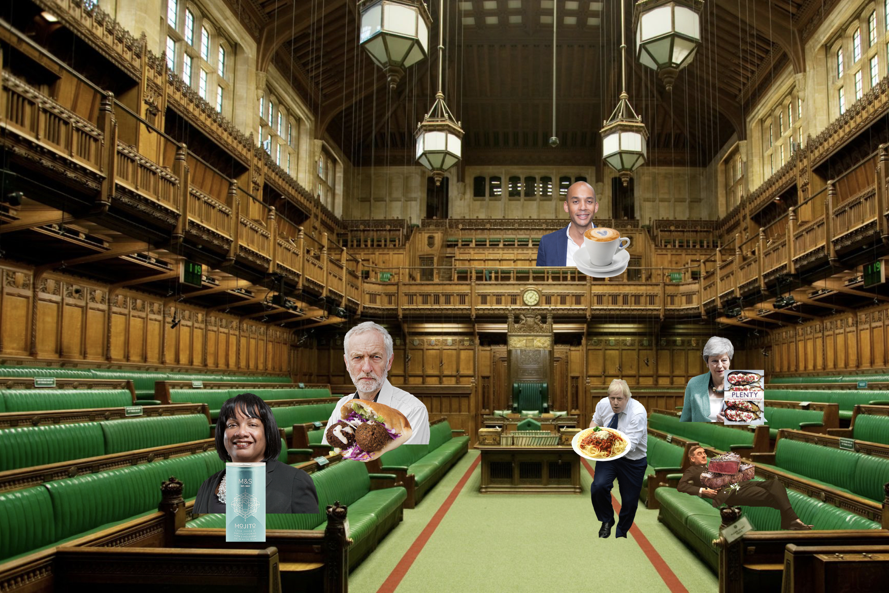 The House of Commons according to where politicians eat
