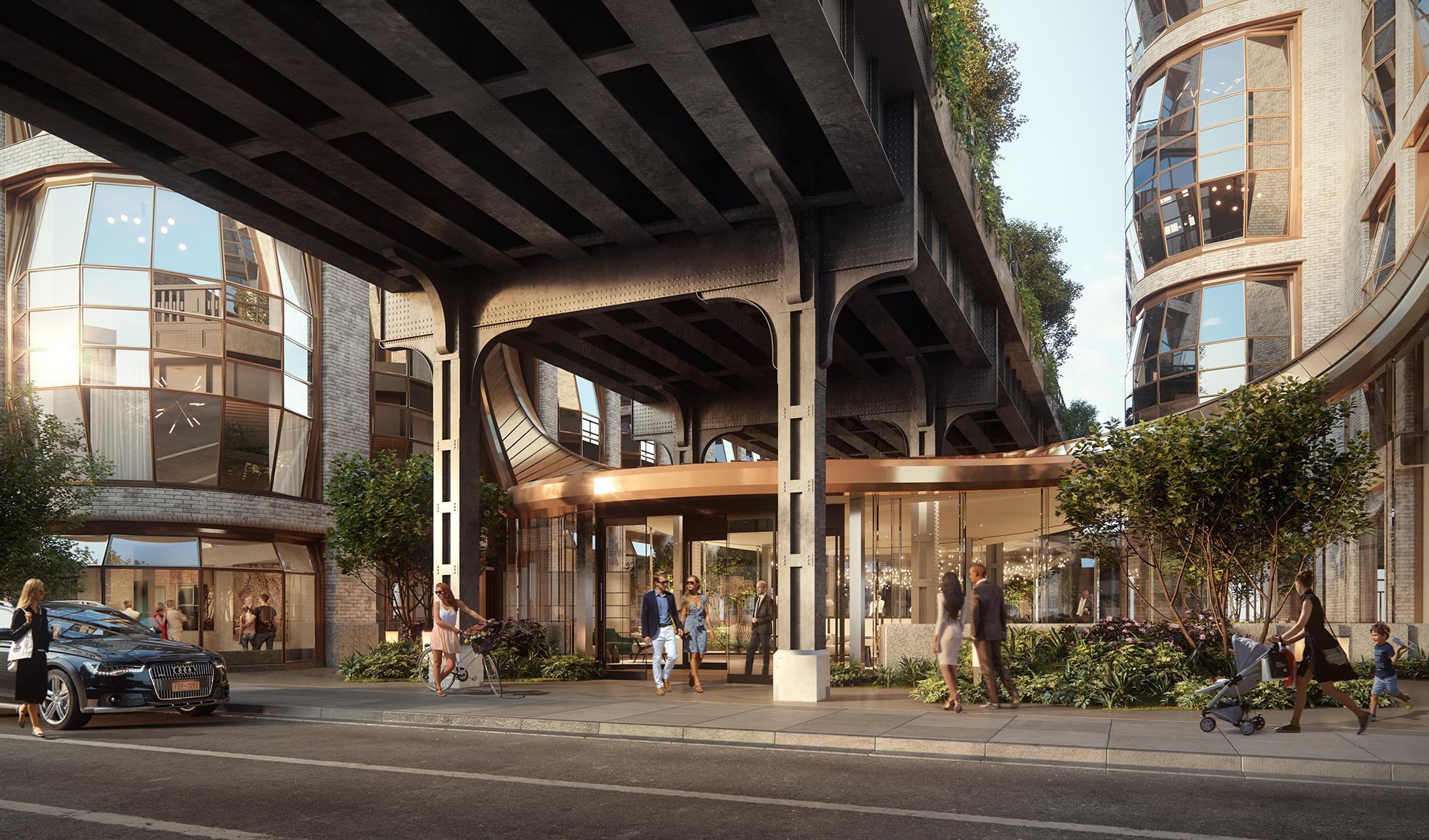 Thomas Heatherwick's High Line condo unveils lobby