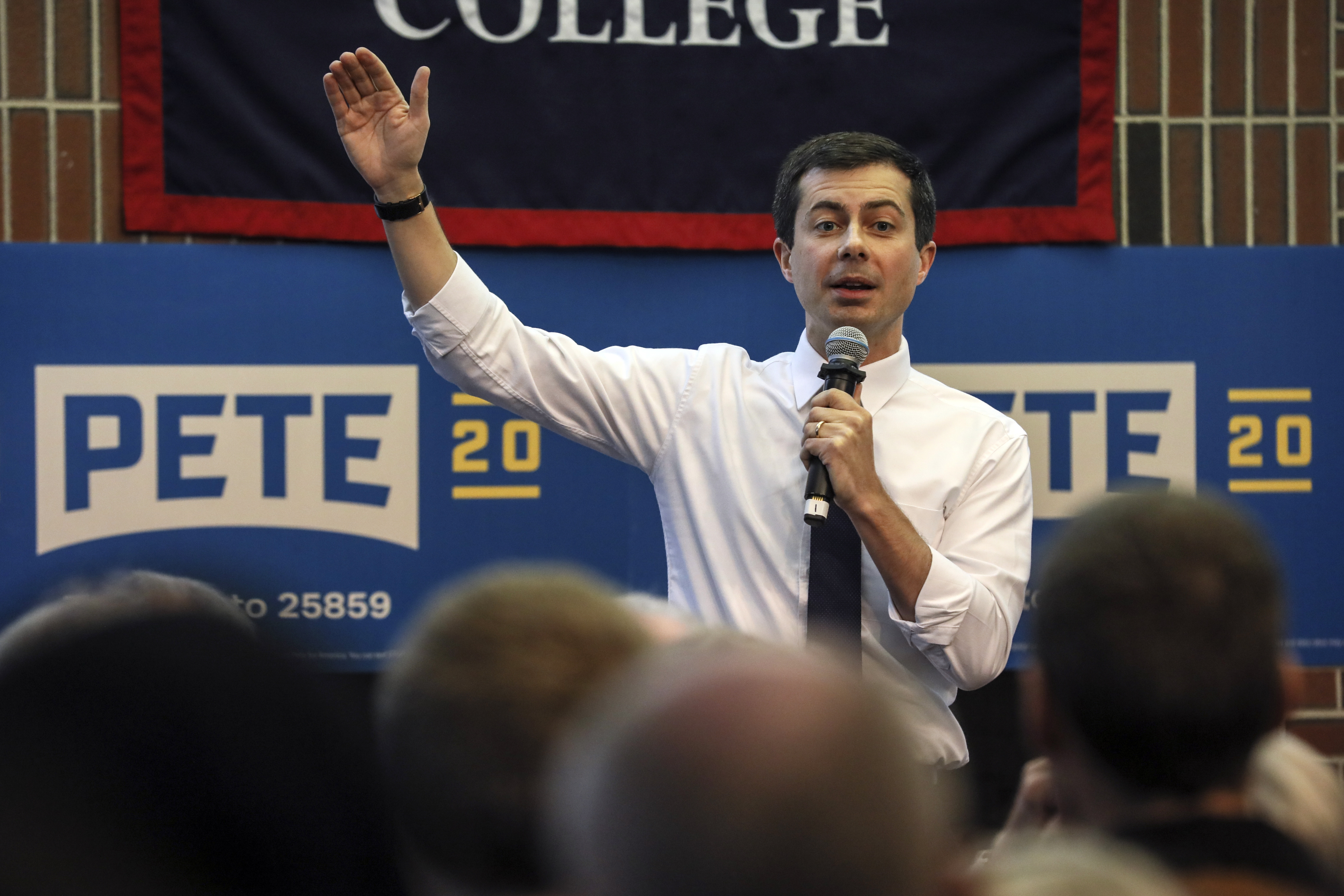 Democratic presidential candidate South Bend, Ind., Mayor Pete Buttigieg speaks during a campaign event Thursday, Dec. 5, 2019,