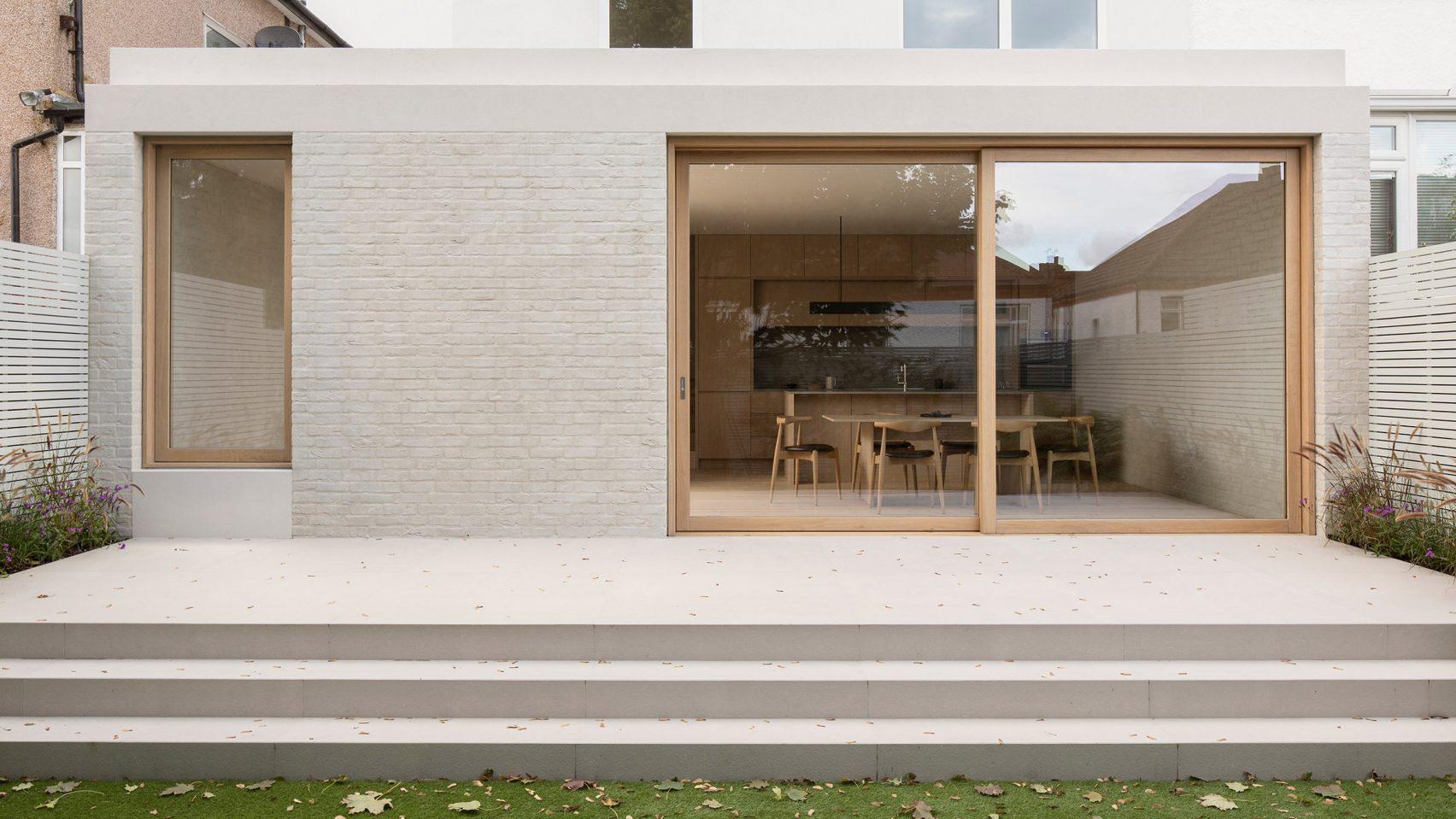Minimalist backyard addition is an ode to neutrals