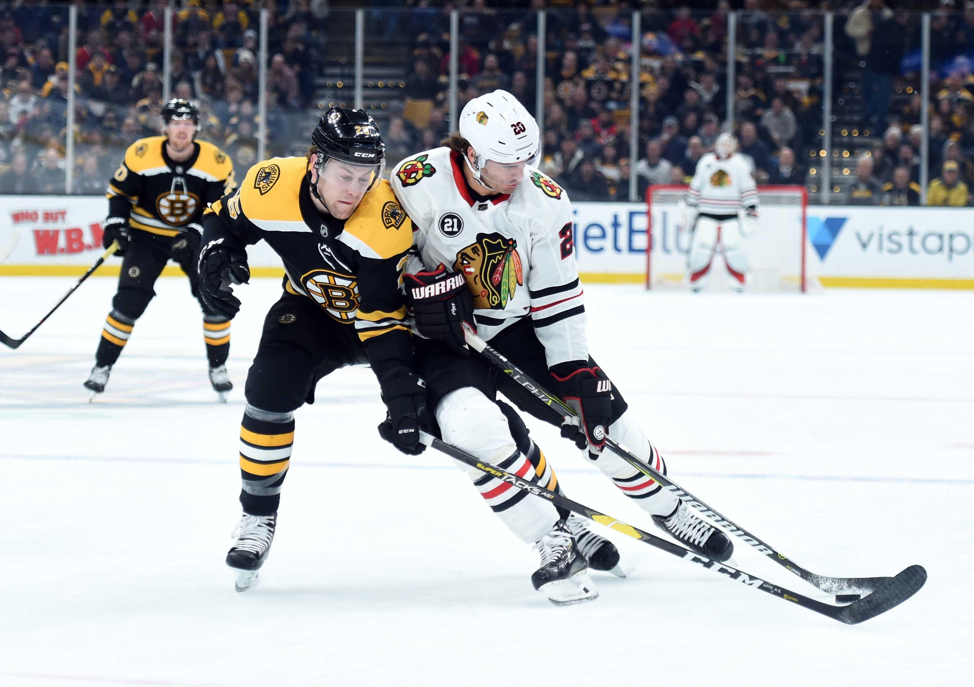 NHL: Chicago Blackhawks at Boston Bruins