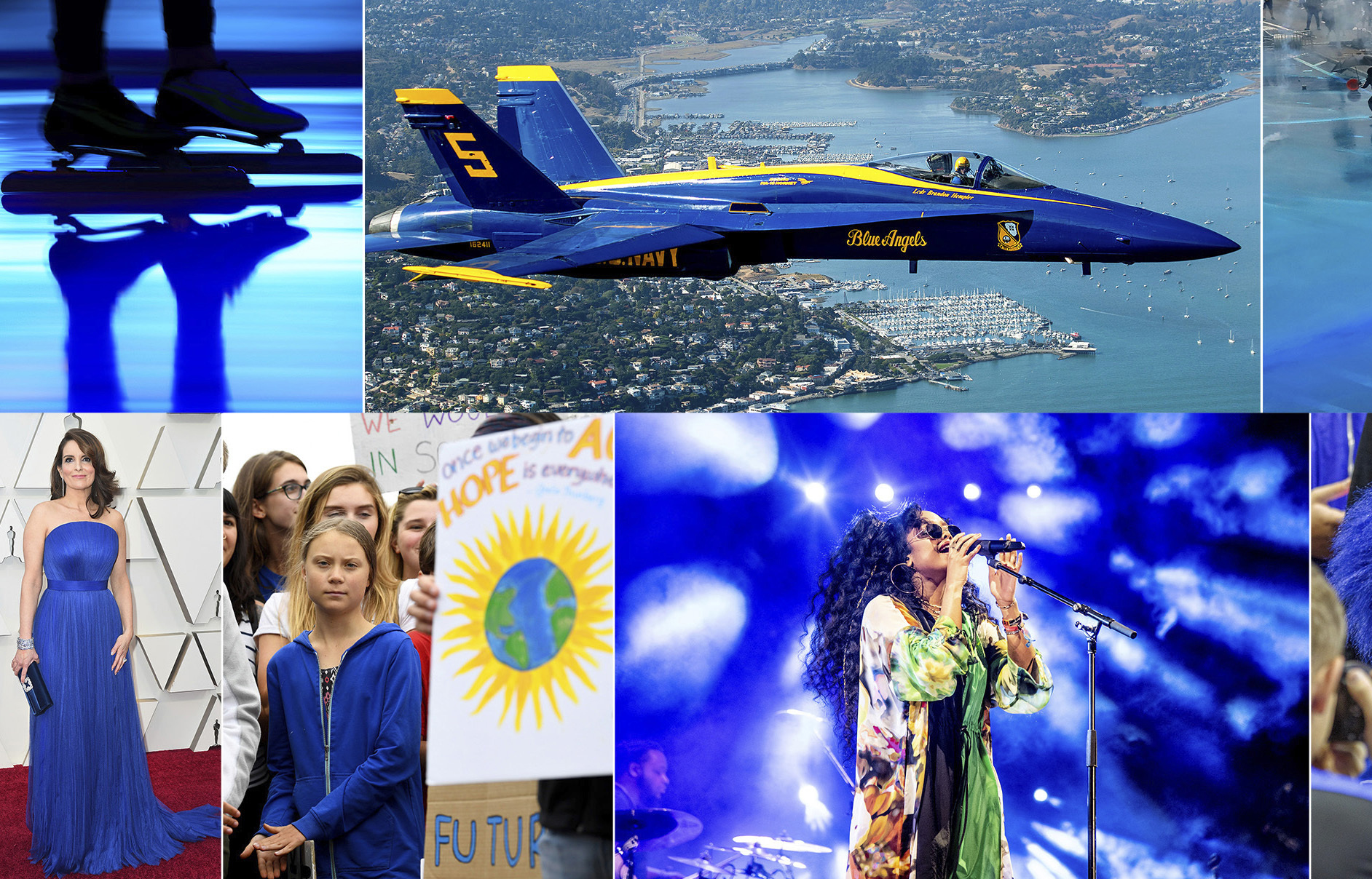 The Pantone Color Institute has named Classic Blue as its color of the year for 2020. The color was visible everywhere in 2019 — from Tina Fey's blue gown at the Oscars and Swedish youth climate activist Greta Thunberg wearing a blue sweatshirt during her U.S. visit to H.E.R. performing under blue lights at Coachella and the color of the U.S. Navy's Blue Angels jets.