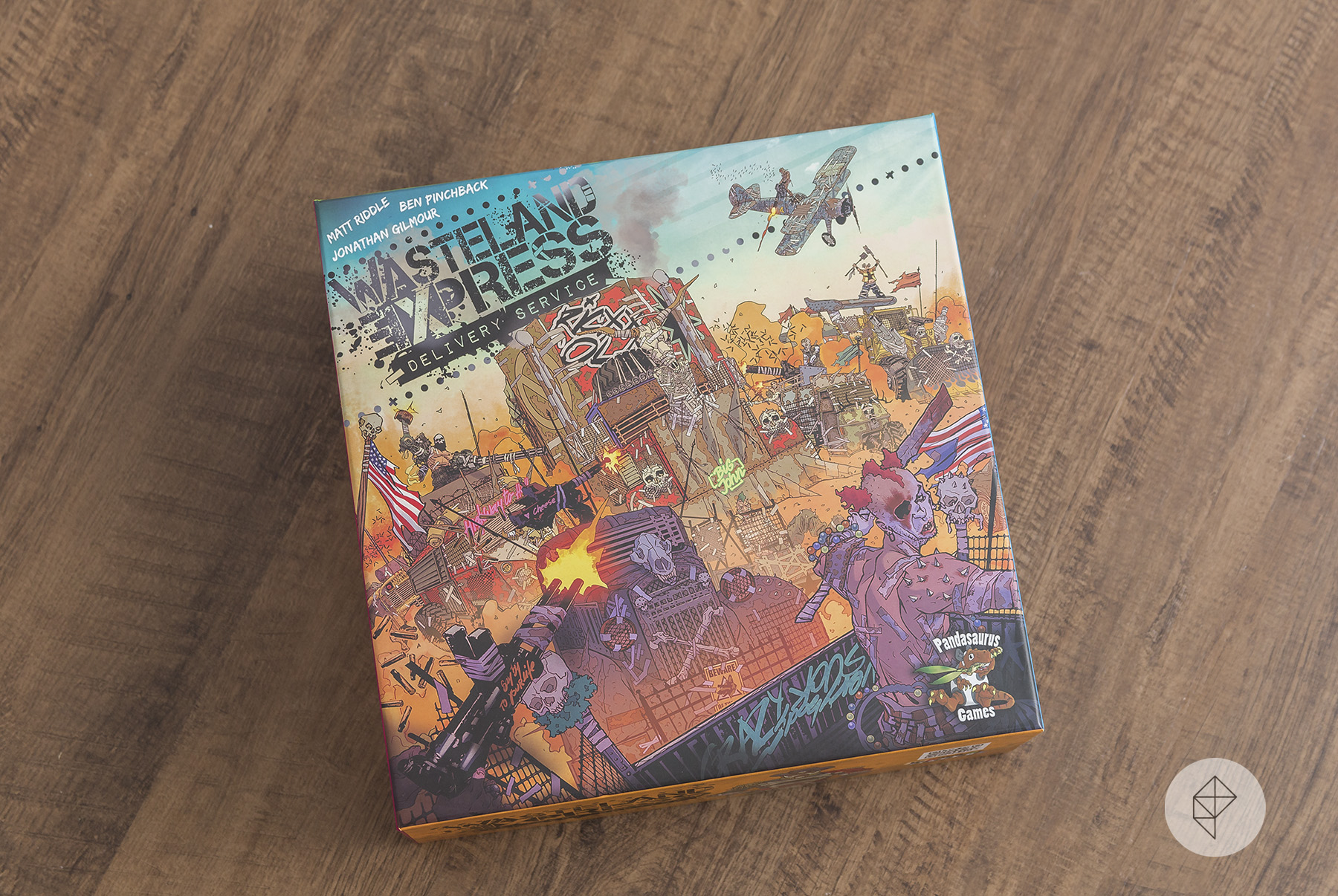 The box for the Wasteland Express Delivery Service table top game