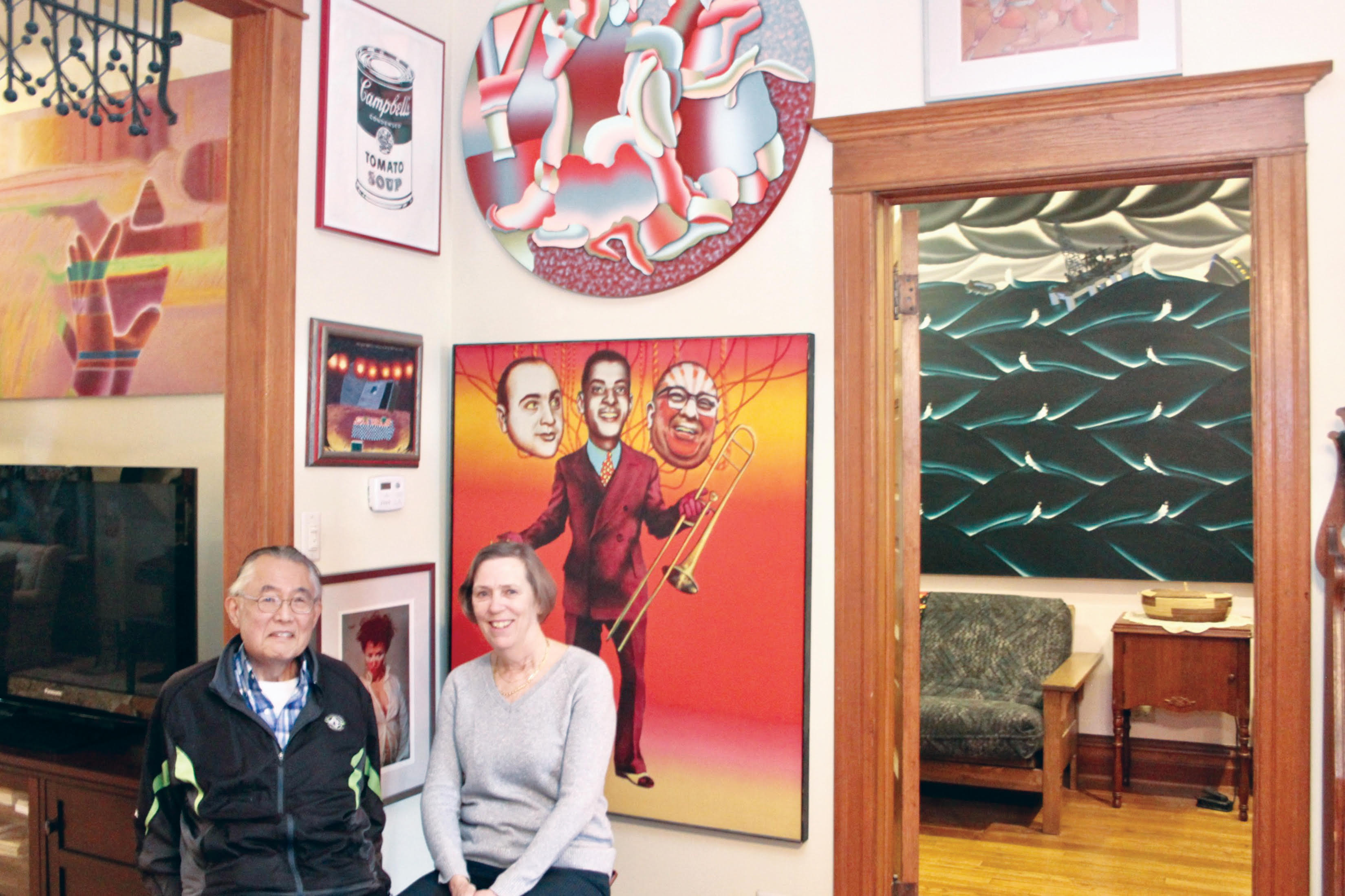 Lee Wesley and his wife Vicki Granacki, seen at their North Side home, were celebrated art collectors.