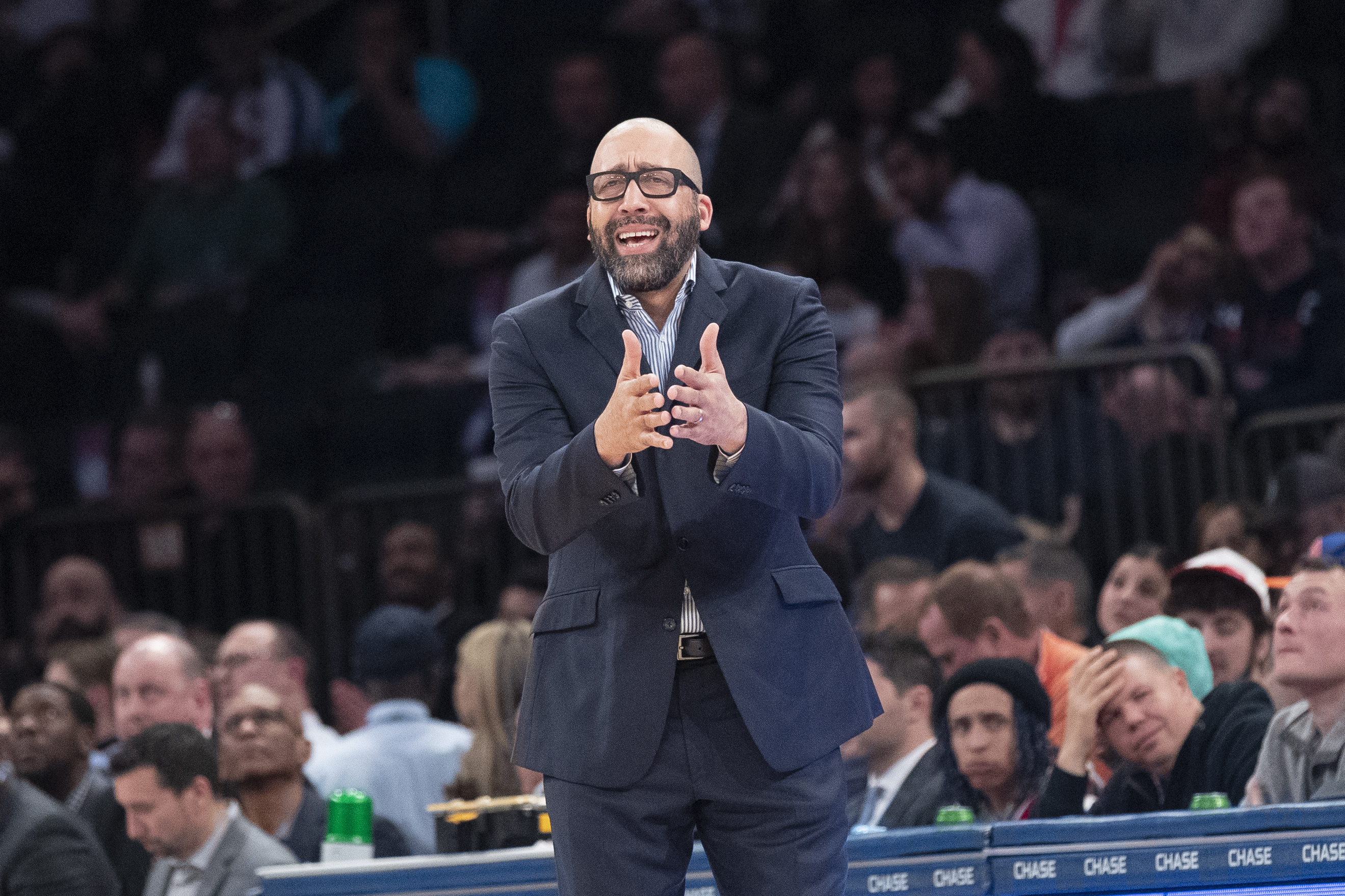 The Knicks fired coach David Fitzdale after the team's 4-18 start.