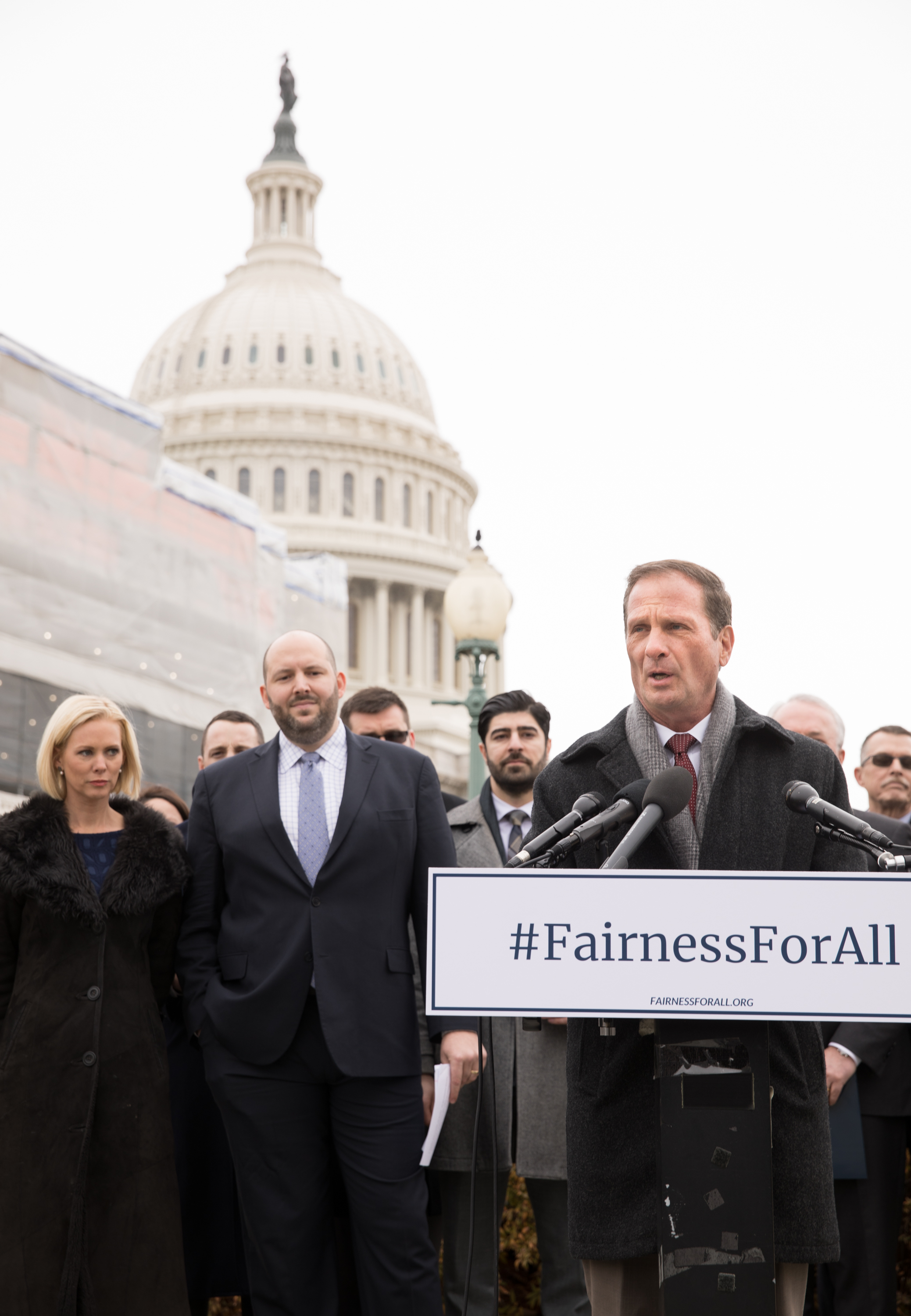 Congressman Chris Stewart, R-Utah, discusses his latest legislation, the Fairness for All Act, which aims to harmonize religious freedom and LGBT rights, during a press conference at the U.S. Capitol in Washington, D.C., on Friday, Dec. 6, 2019.