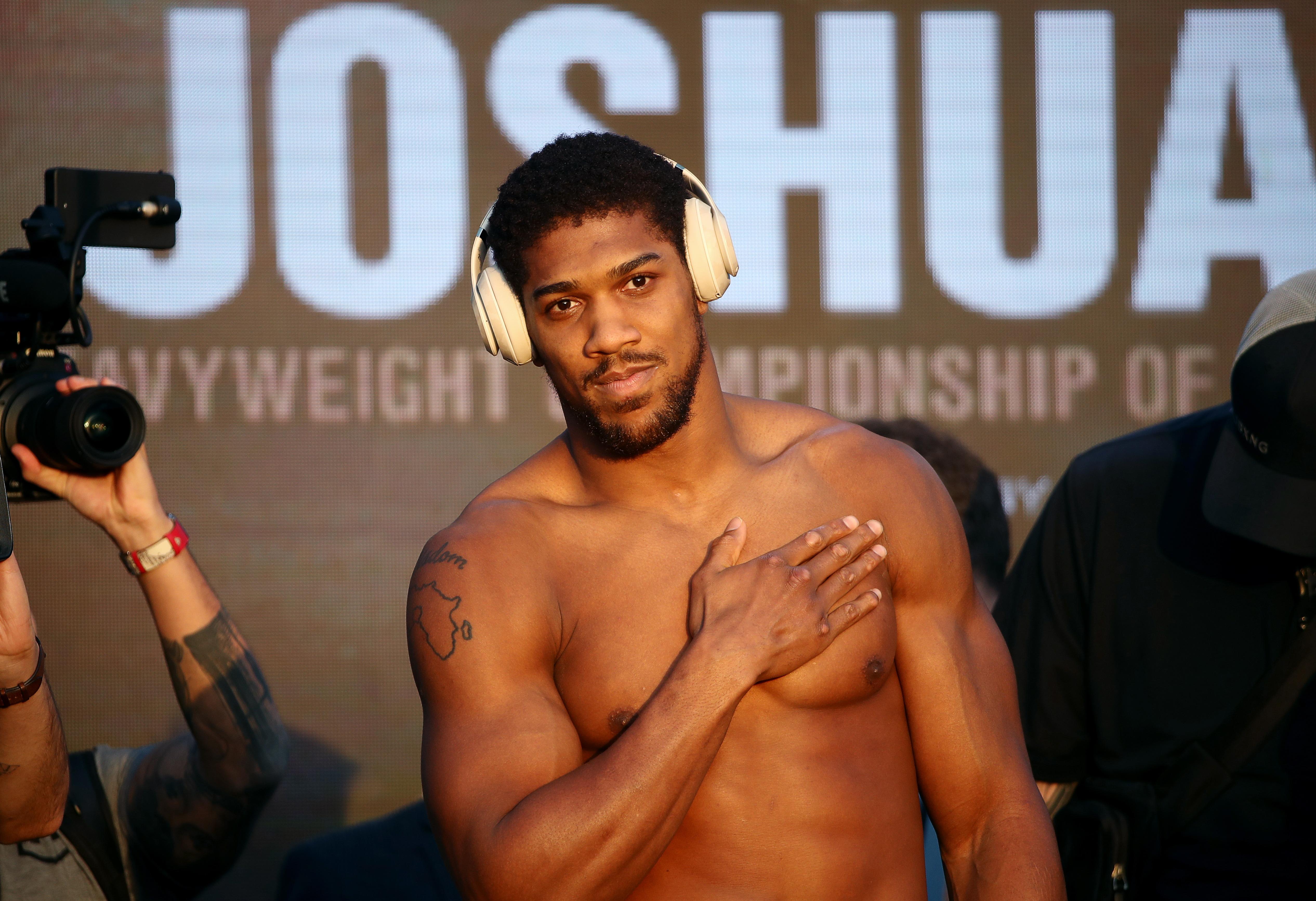 Weigh-in ceremony ahead of Ruiz vs Joshua