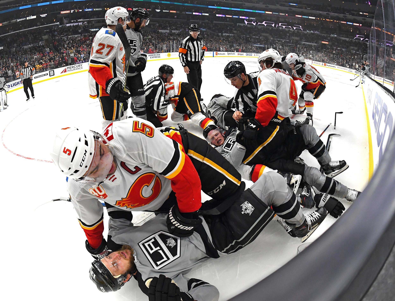 NHL: Calgary Flames at Los Angeles Kings