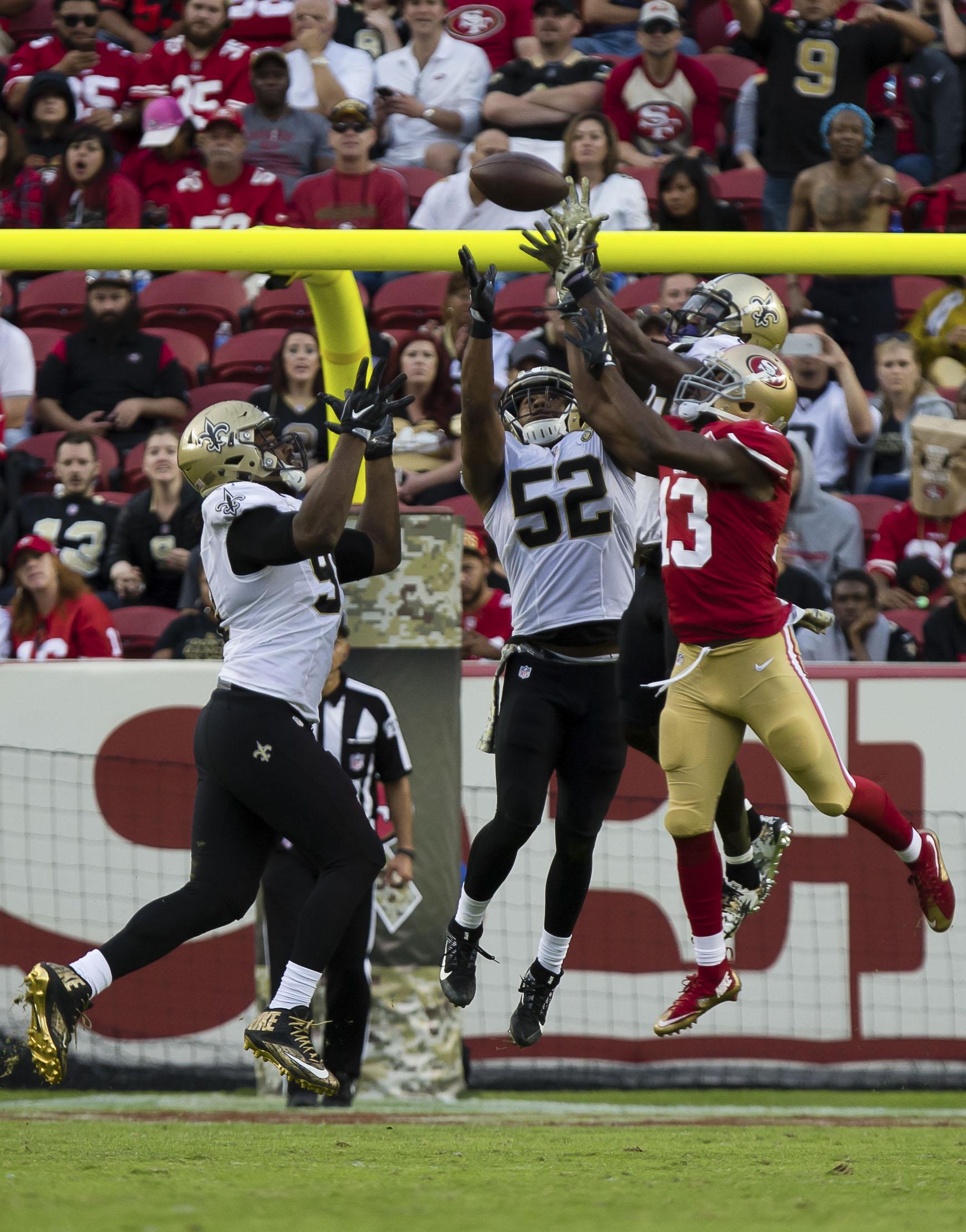 NFL: New Orleans Saints at San Francisco 49ers