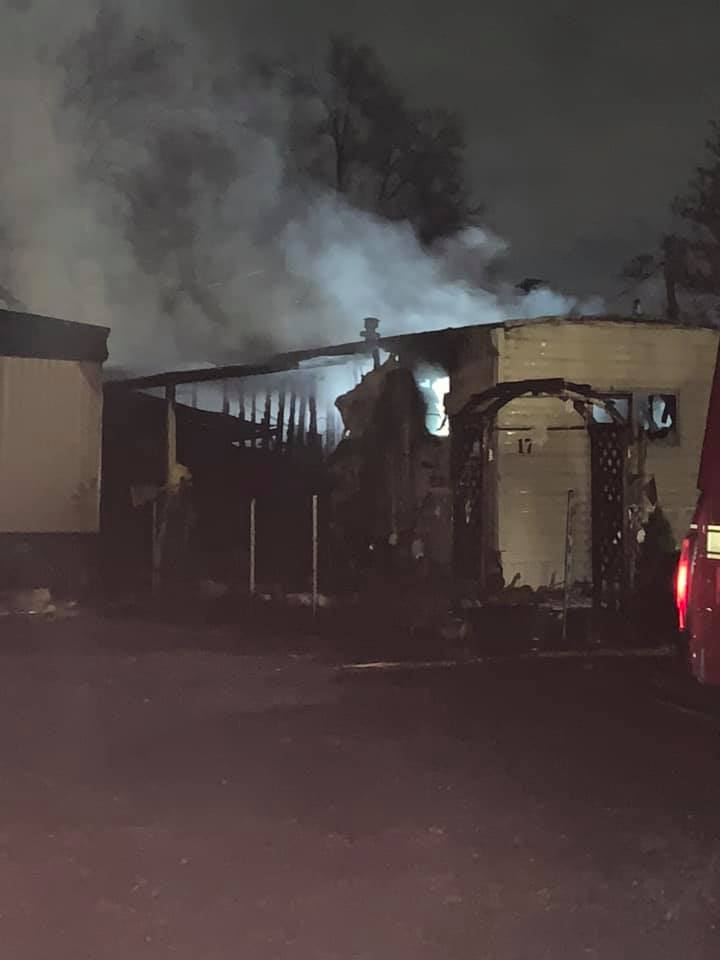 Three trailer homes were damaged in a blaze in Weber County on Sunday, Dec. 8, 2019.