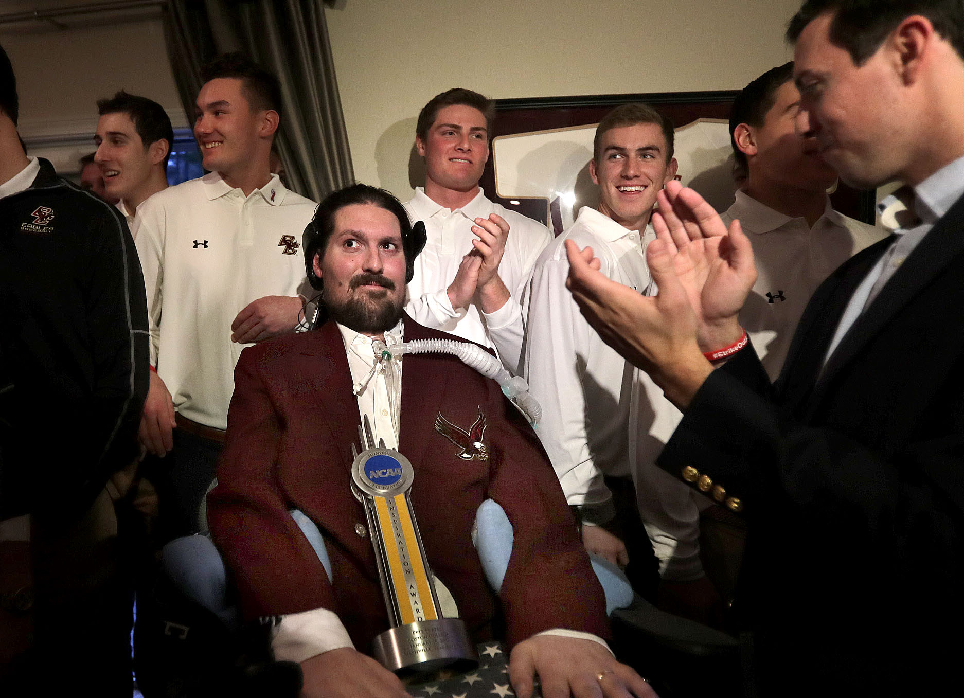 Pete Frates Recieves Award From NCAA