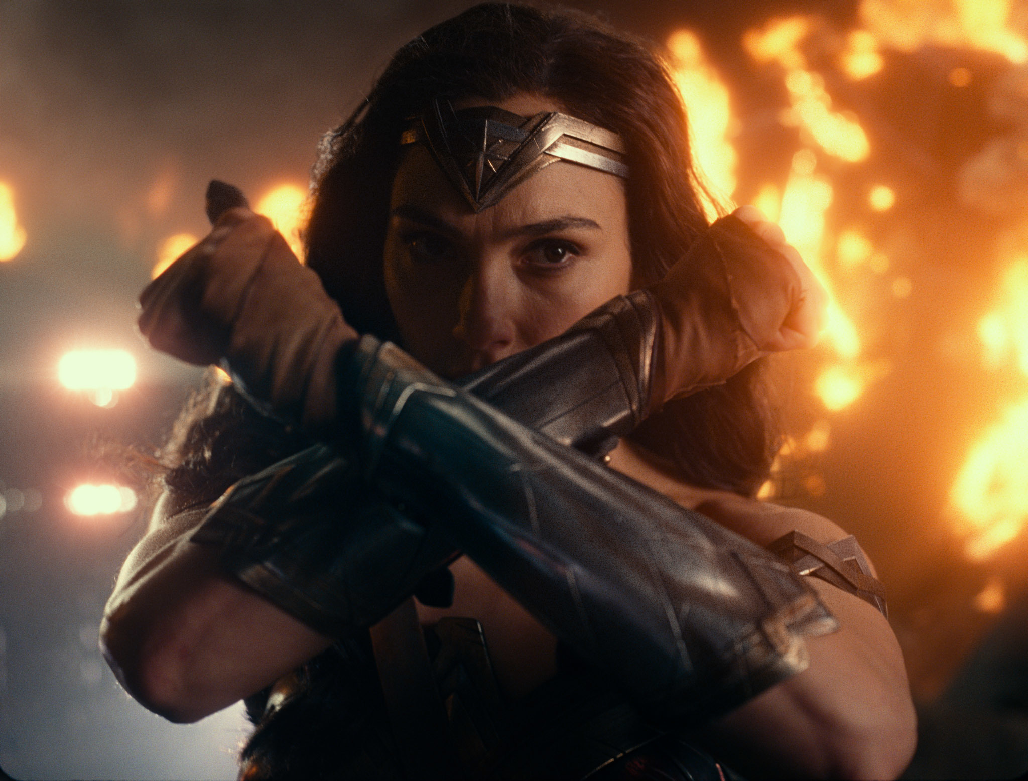 "Gal Gadot as Wonder Woman in ""Justice League."""