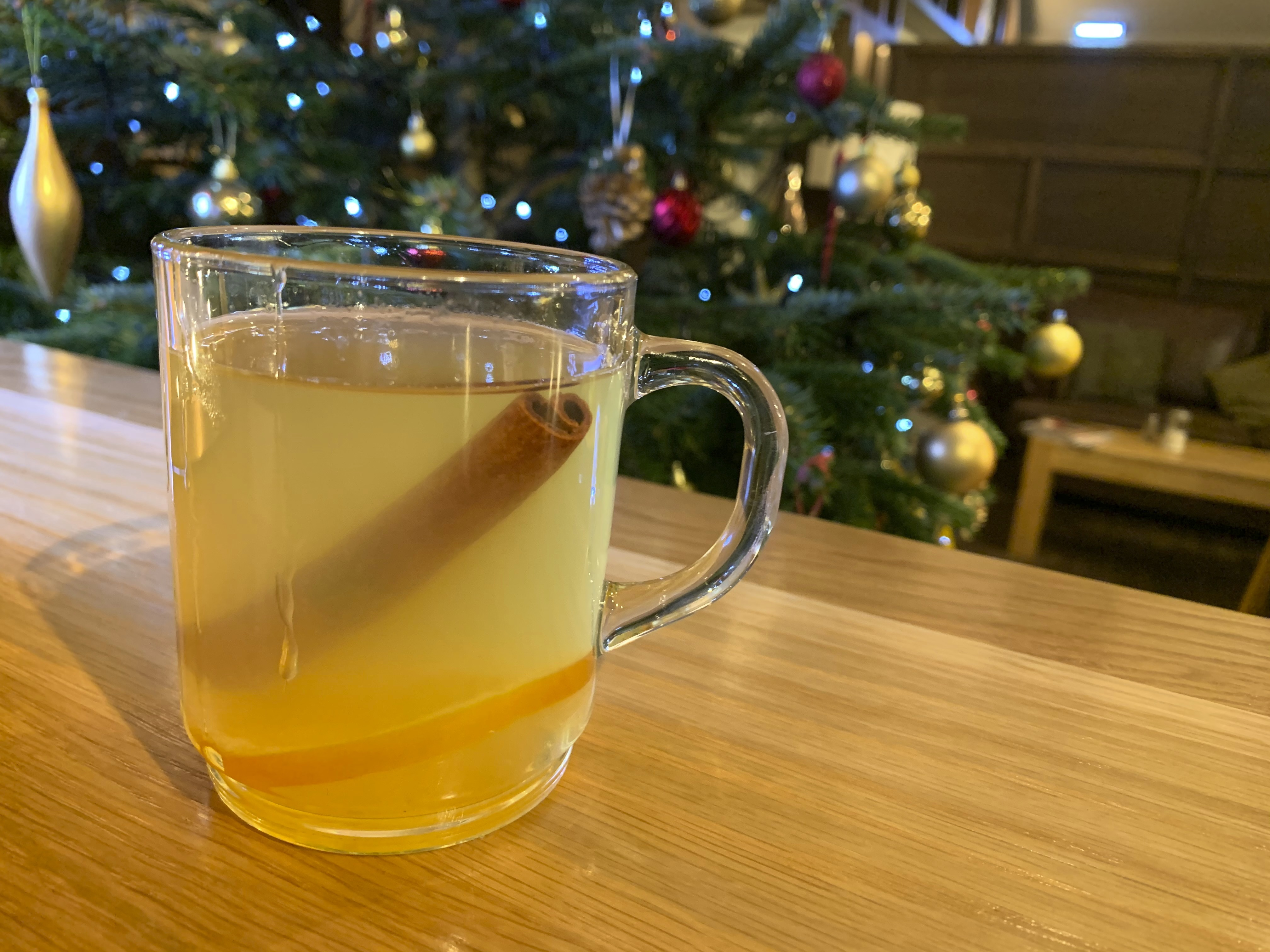 A traditional hot toddy is displayed at the Dewar's Aberfeldy in London. While mulled wine, warm spiced cider and hot toddies have long been British staples during winter, many cocktail bars in London offer their own seasonal winter warmers.