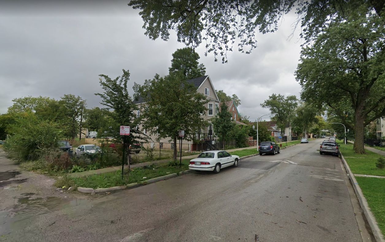 A man is accused of hitting a relative with a glass bottle in West Garfield Park