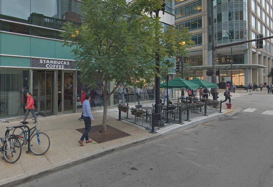 Thefts reported at Starbucks stores on Near West Side.