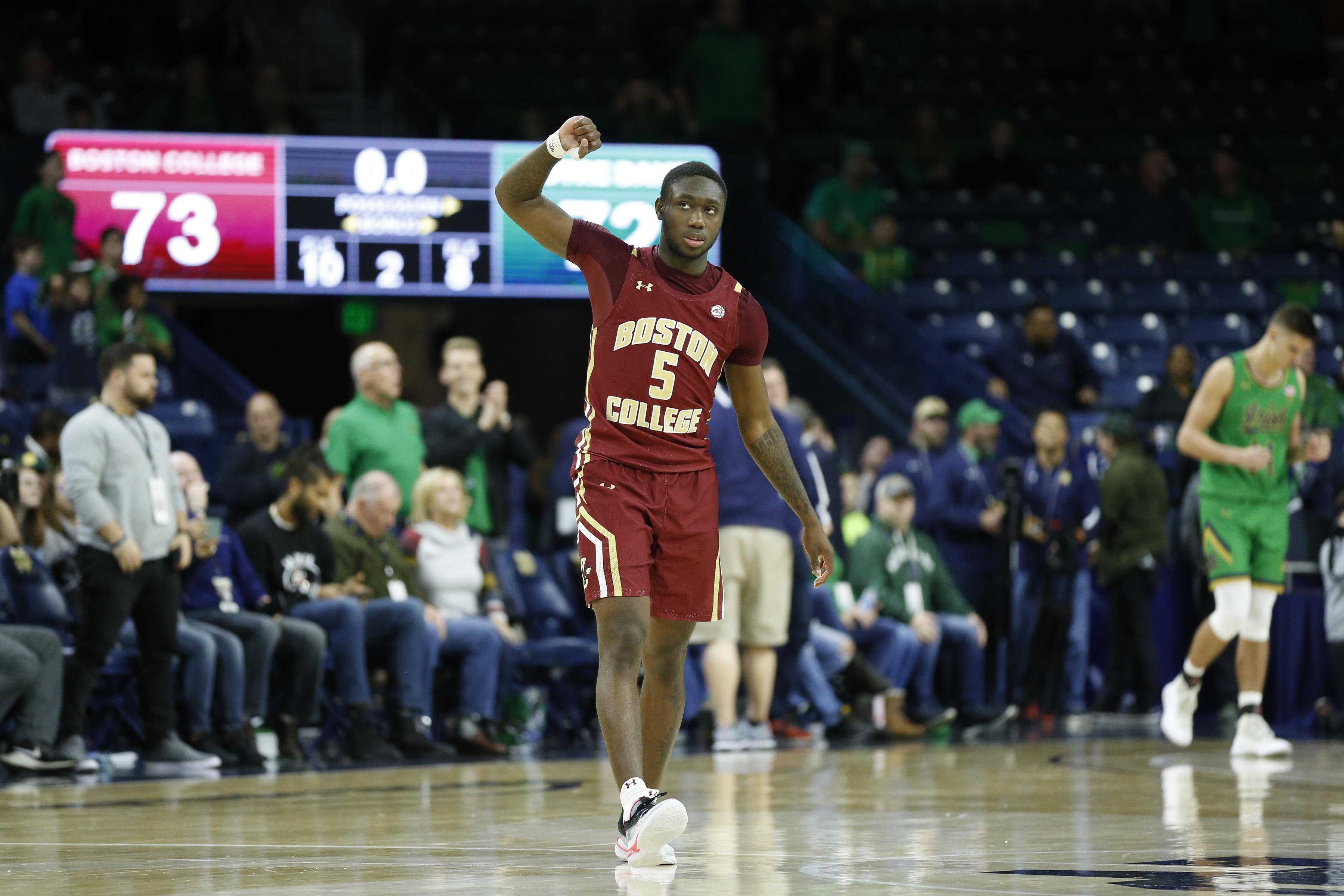 COLLEGE BASKETBALL: DEC 07 Boston College at Notre Dame