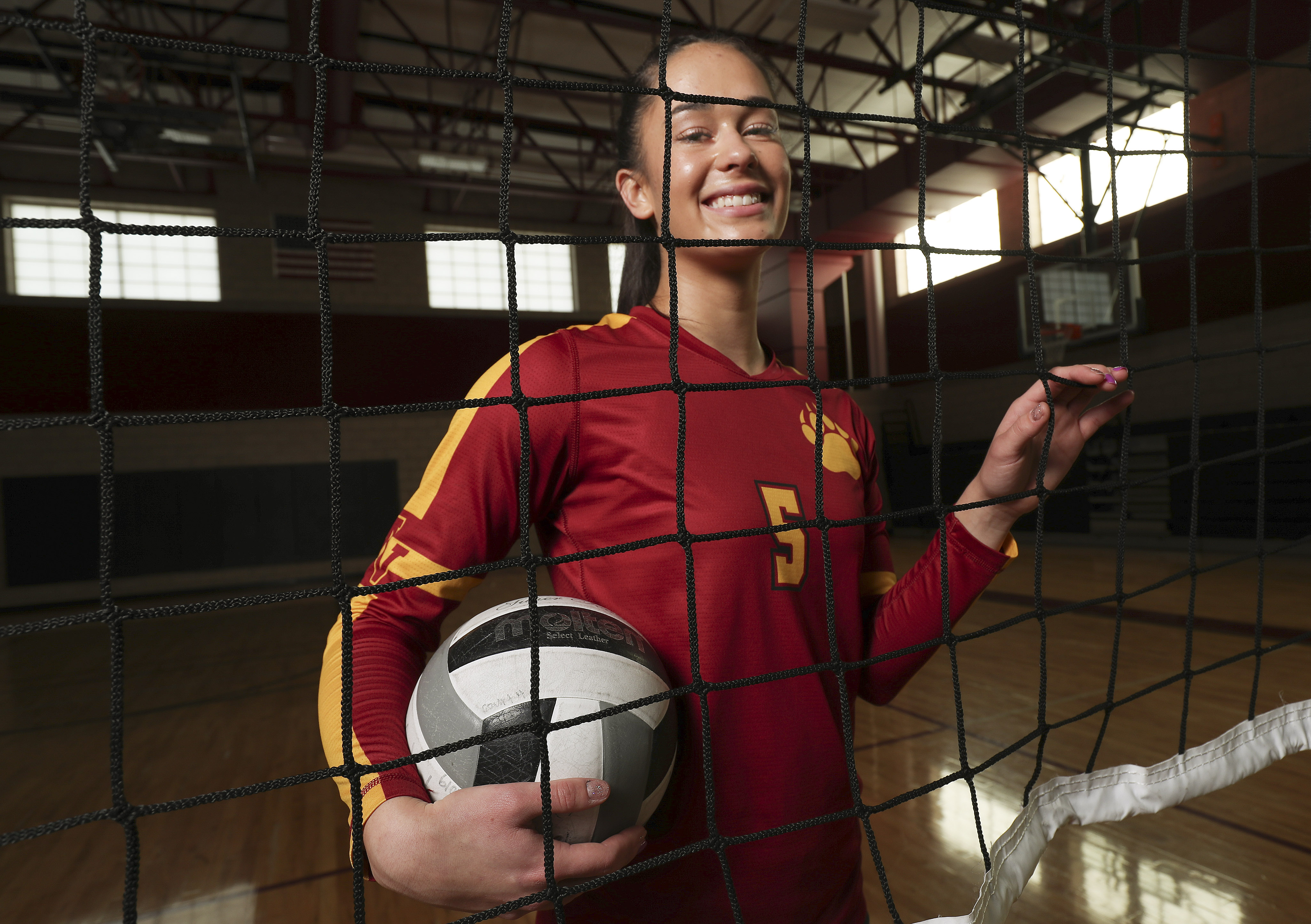 Mountain View High School's Mia Wesley, pictured in Orem on Wednesday, Dec. 4, 2019, is the Deseret News Ms. Volleyball honoree for 2019.