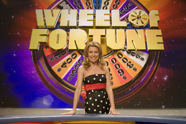 "Vanna White, co-host/letter-turner of ""Wheel of Fortune,"" poses on the set in North Charleston, S.C."