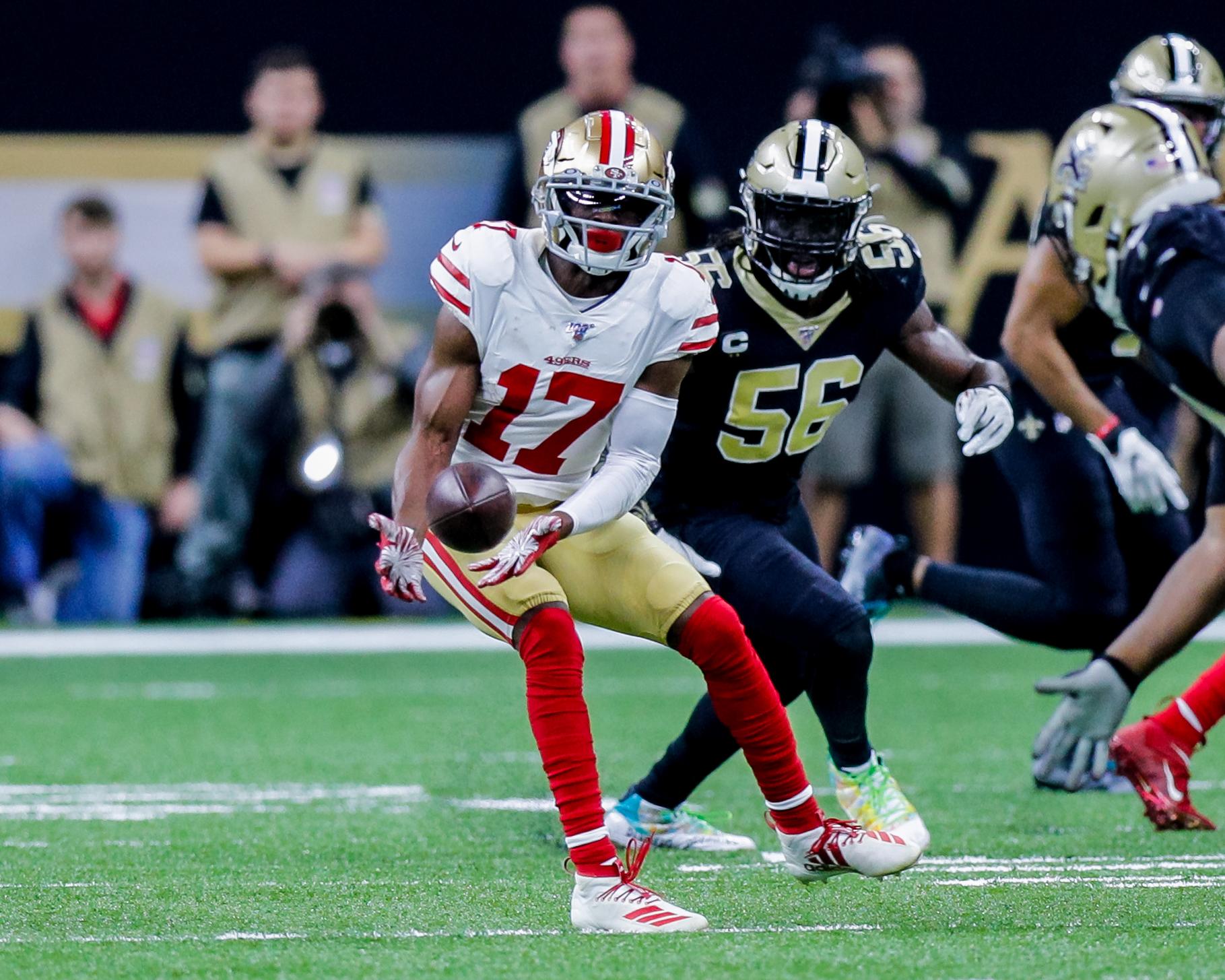 NFL: DEC 08 49ers at Saints