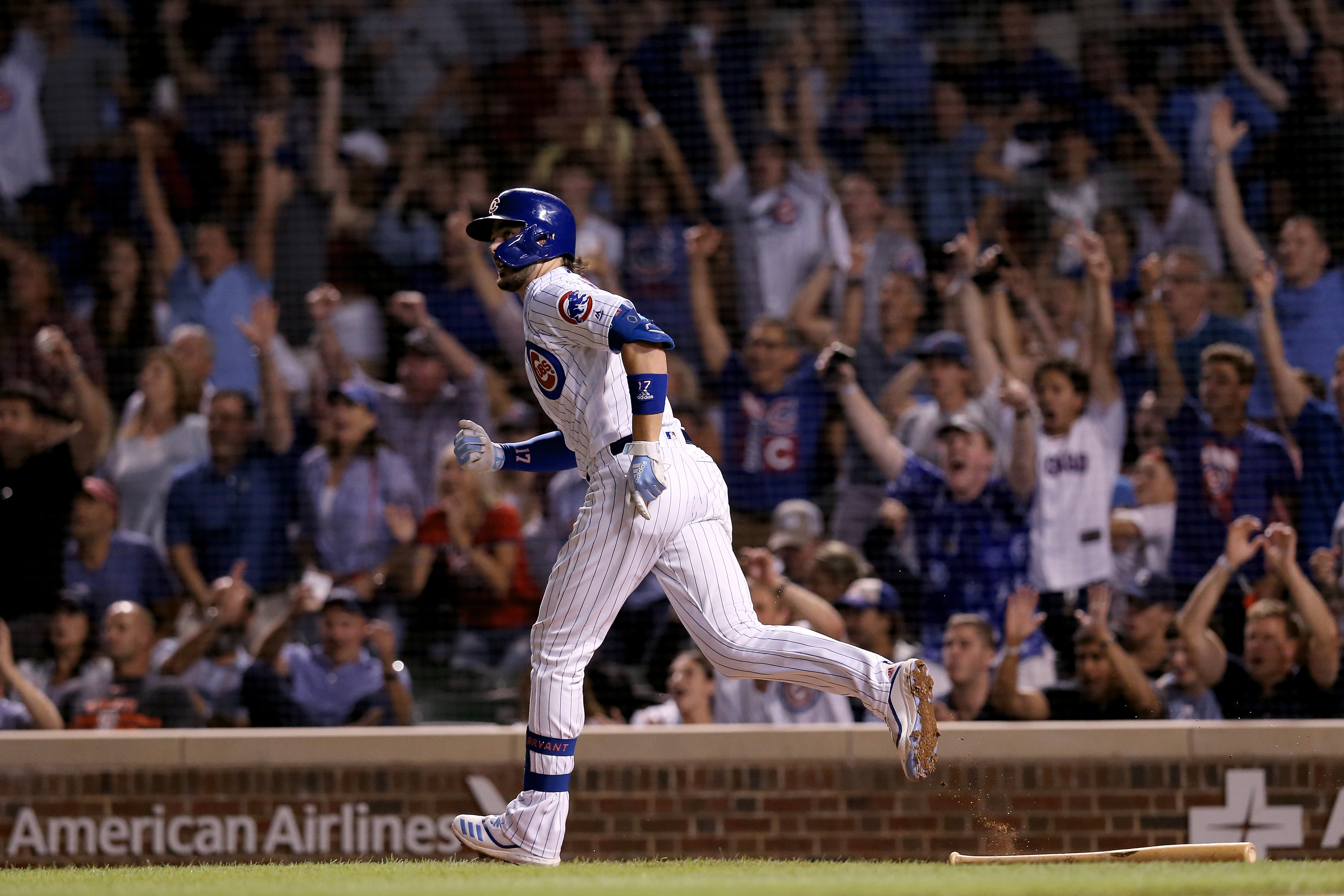 Savor the image of a Kris Bryant home run at Wrigley Field.