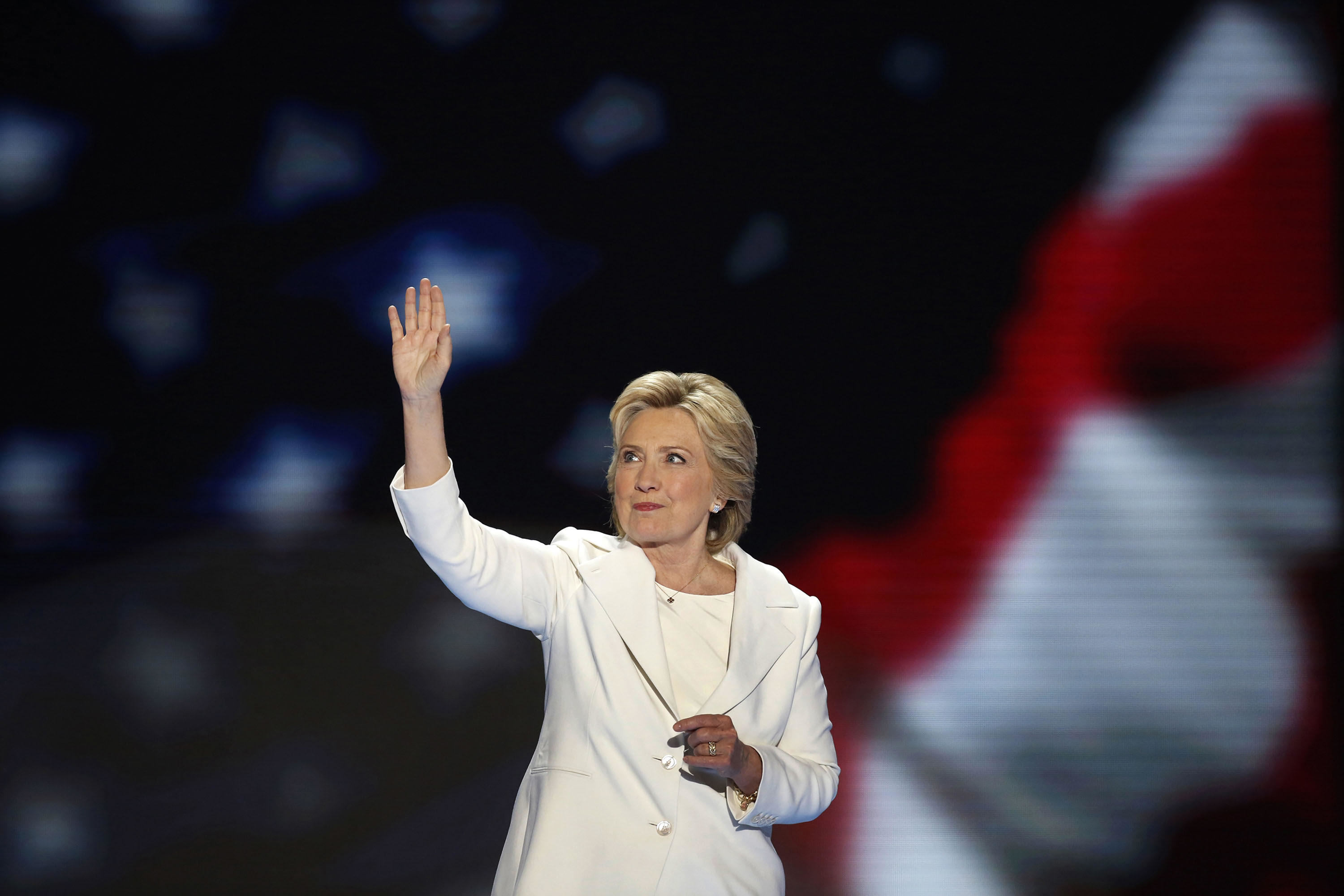 Hillary Clinton at the Democratic National Convention in Philadelphia on July 28, 2016.