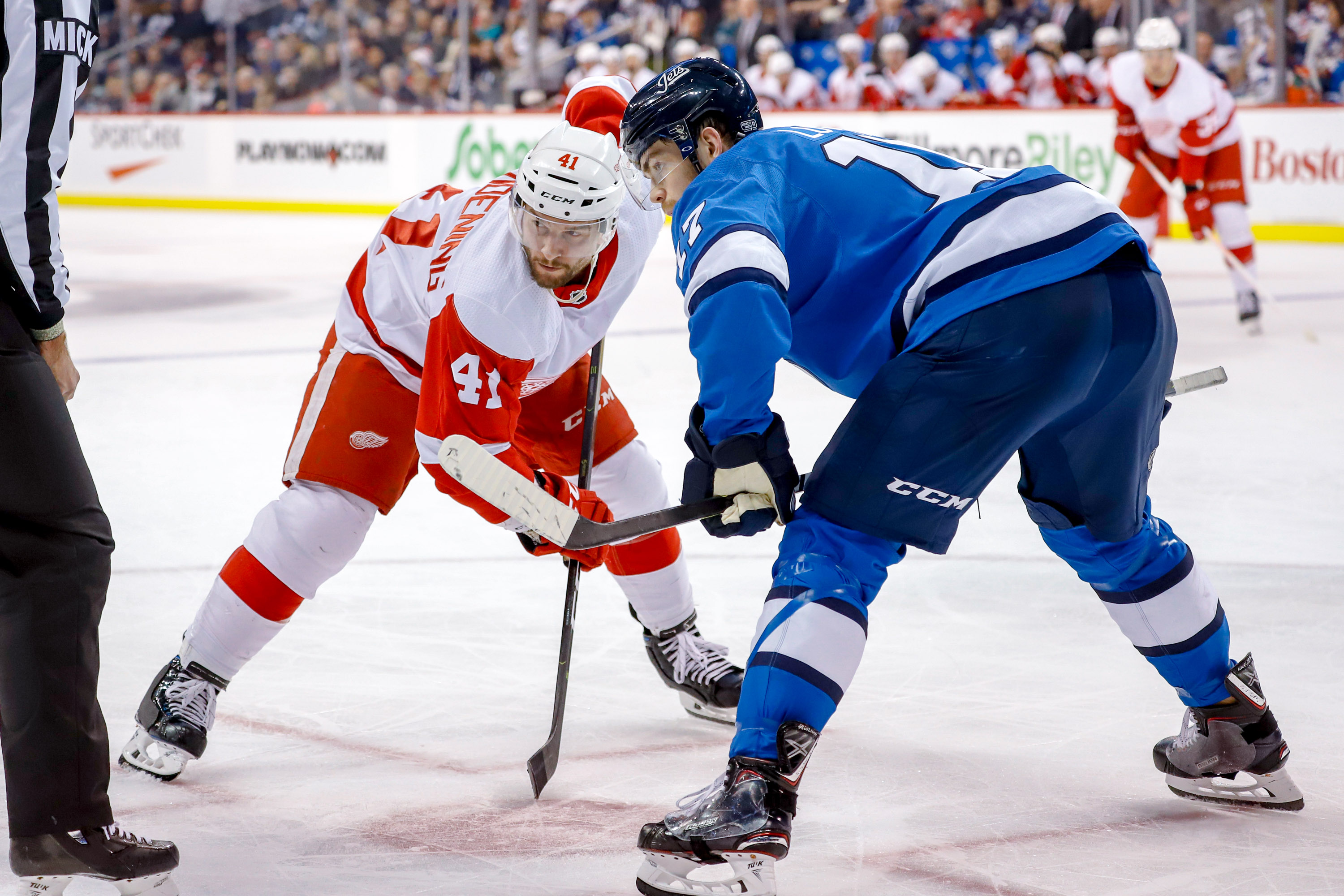 Detroit Red Wings v Winnipeg Jets