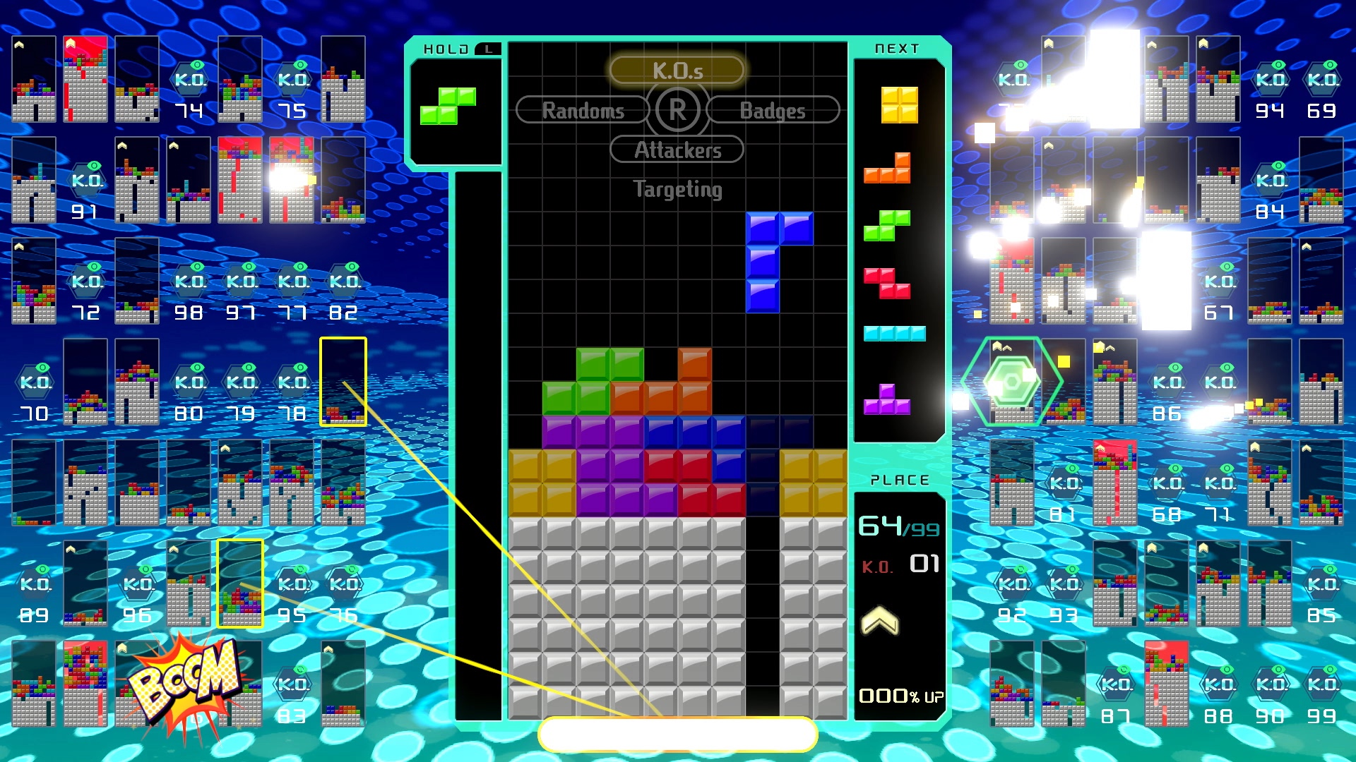 Squad up in Tetris 99's new team mode