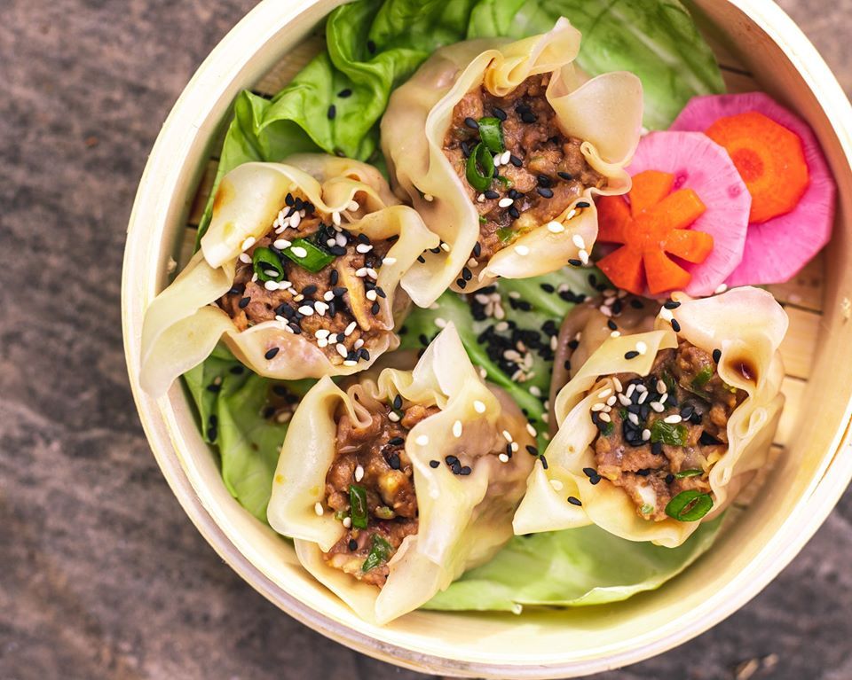 Vegan shu mai from PlowBao