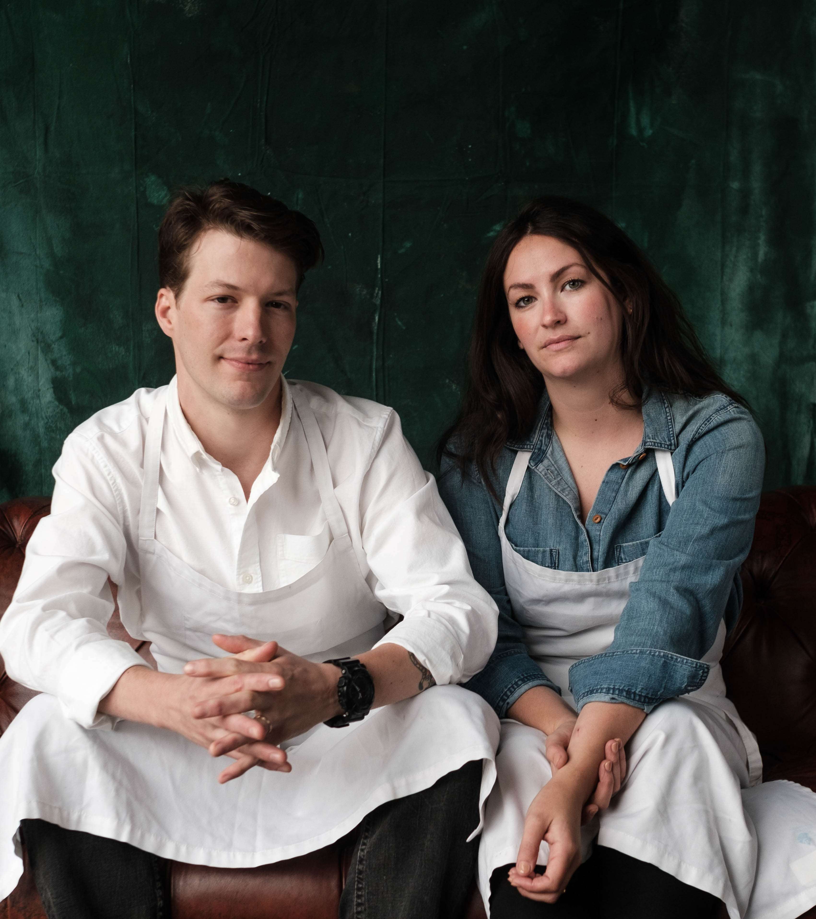 Lutie's chefs Bradley Nicholson and Susana Querejazu