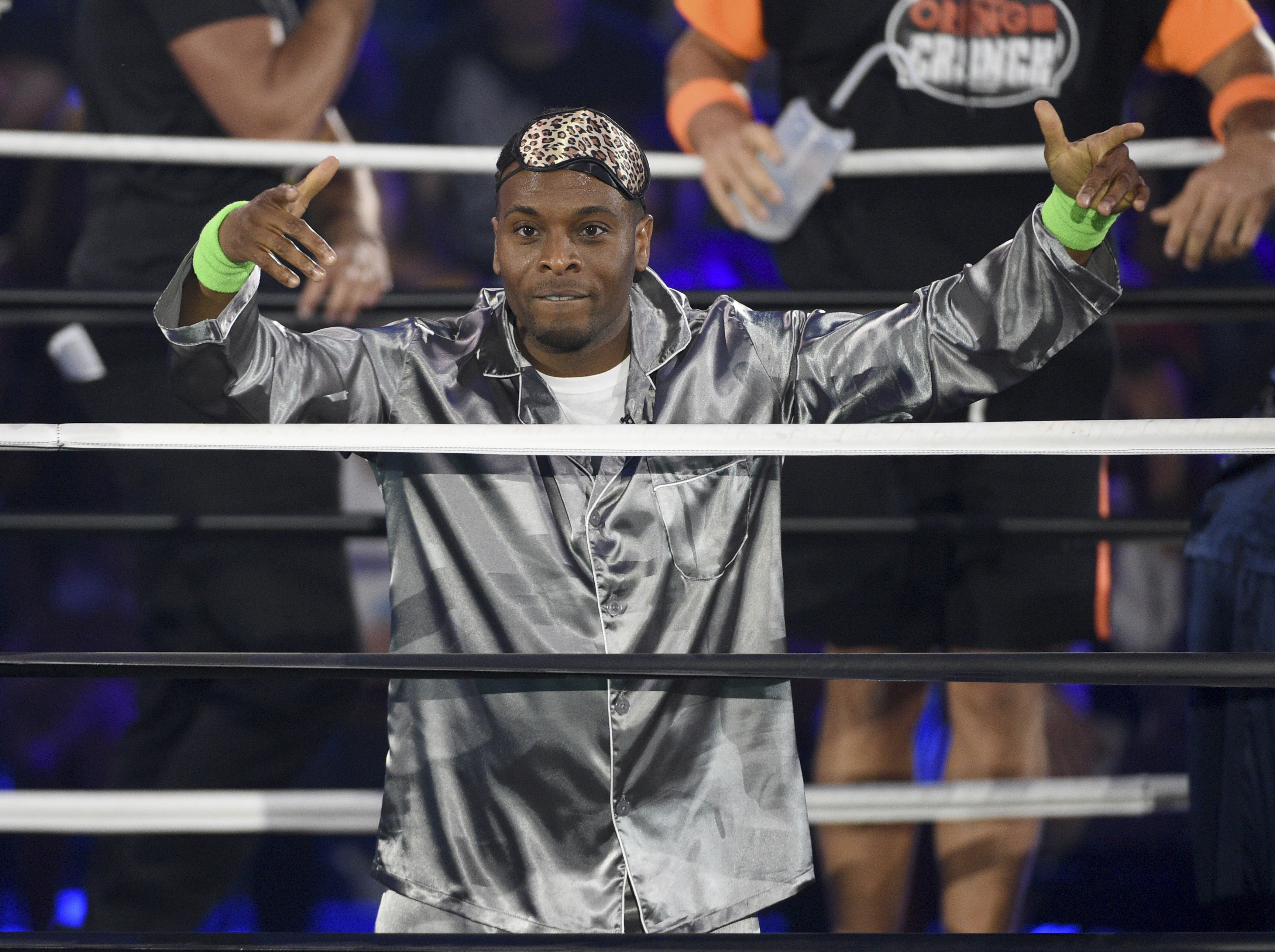 Kel Mitchell participates in the Pillow Fight Fight Night challenge at the Kids' Choice Sports Awards on Thursday, July 11, 2019, at the Barker Hangar in Santa Monica, Calif. (Photo by Chris Pizzello/Invision/AP)