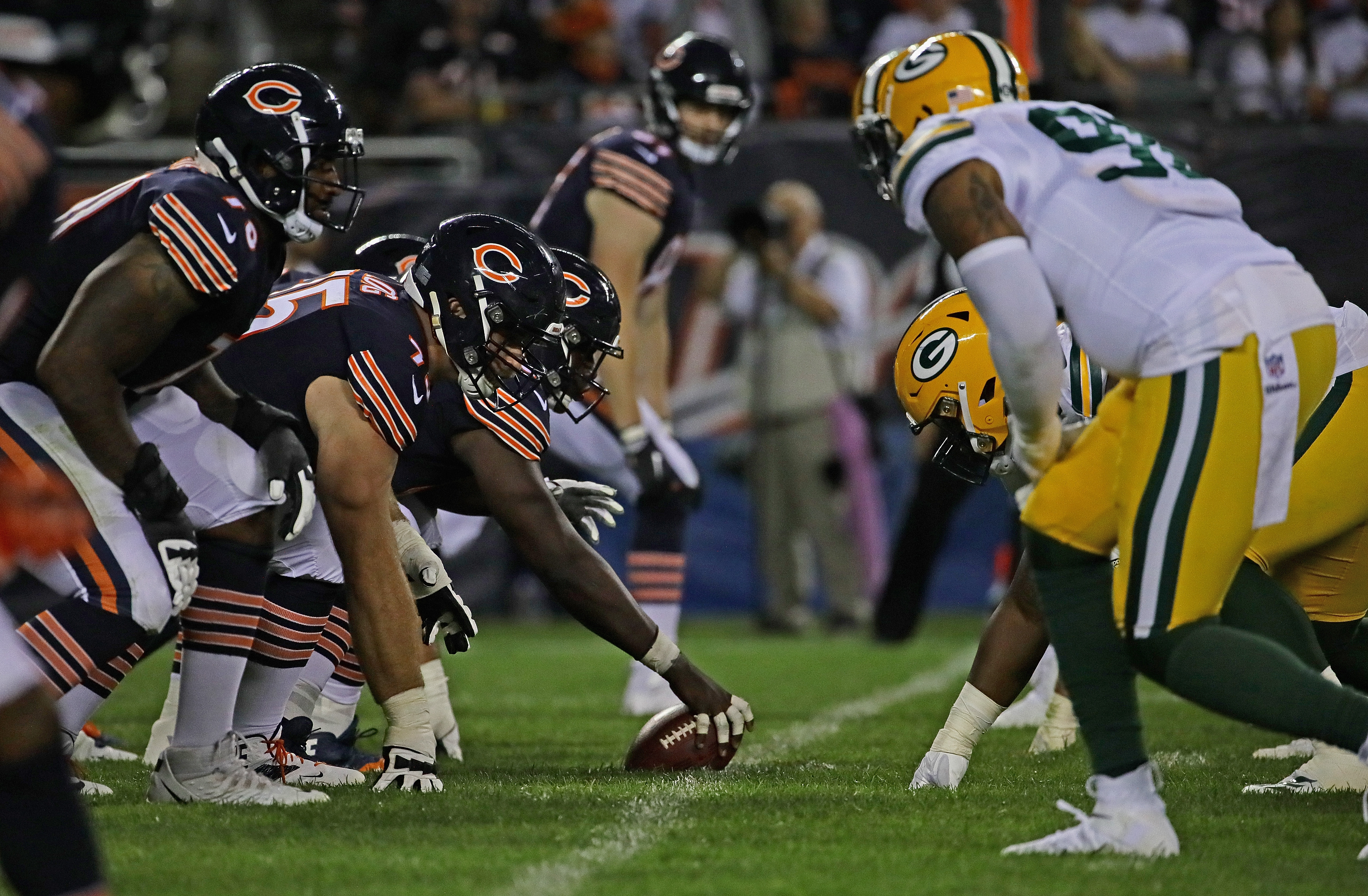 The Bears and Packers line up against each other in the season opener.