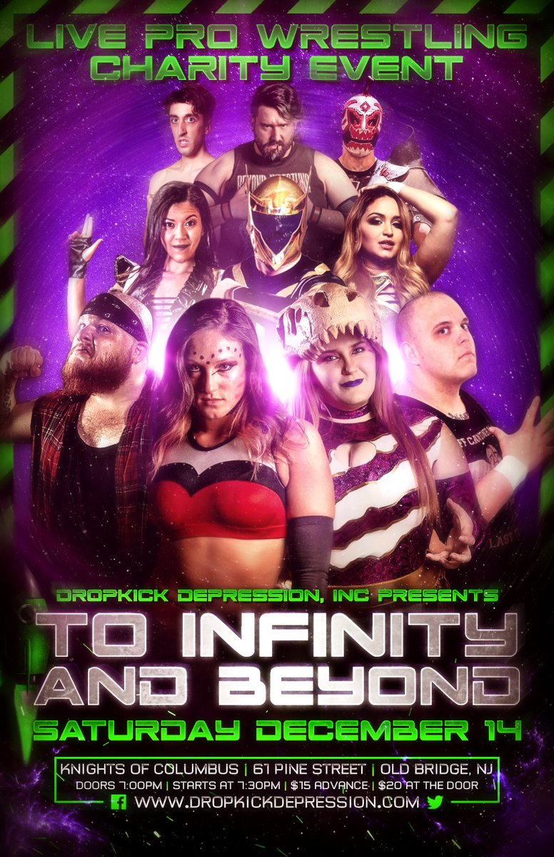 Poster for Dropkick Depression show To Infinity and Beyond