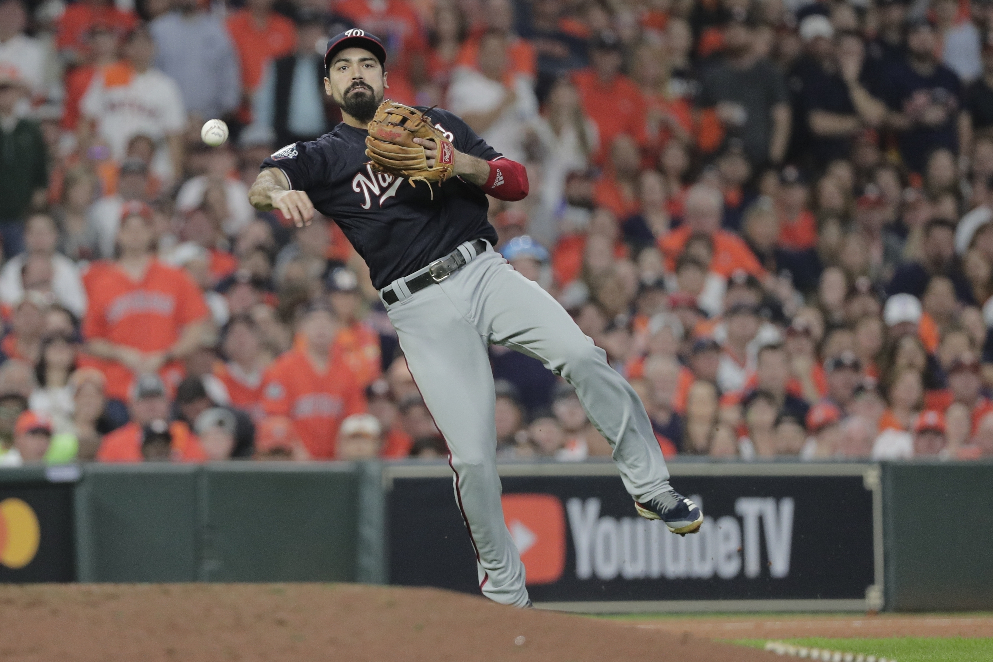 Third baseman Anthony Rendon and the Los Angeles Angels agreed to a $245 million, seven-year contract a person with direct knowledge of the deal told The Associated Press.