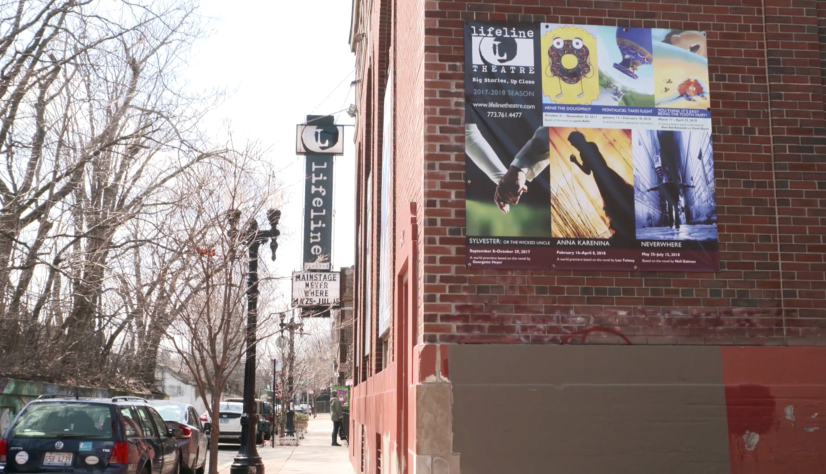Lifeline Theatre makes its home in a converted ComEd substation in Rogers Park. The theater company has been awarded a Rick Bayless Family Foundation Grant.