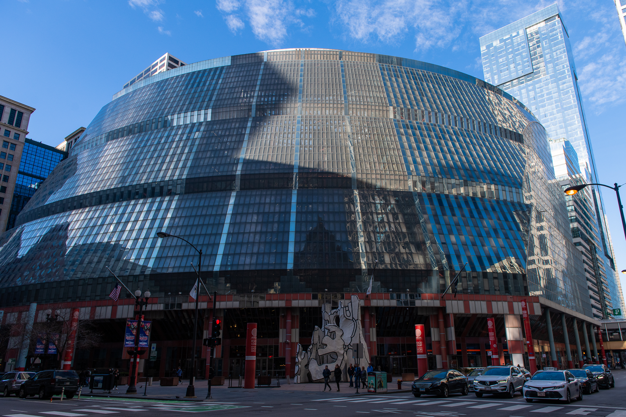The James R. Thompson Center, in the Loop.