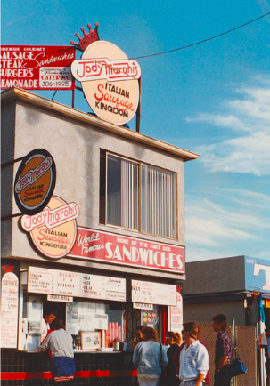 The Venice storefront for Jody Maroni's Sausage Kingdom