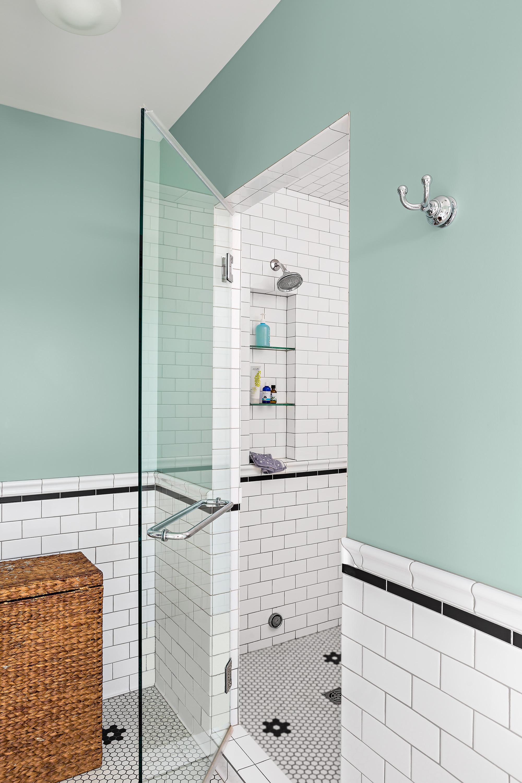 Steam Shower in modern bathroom.