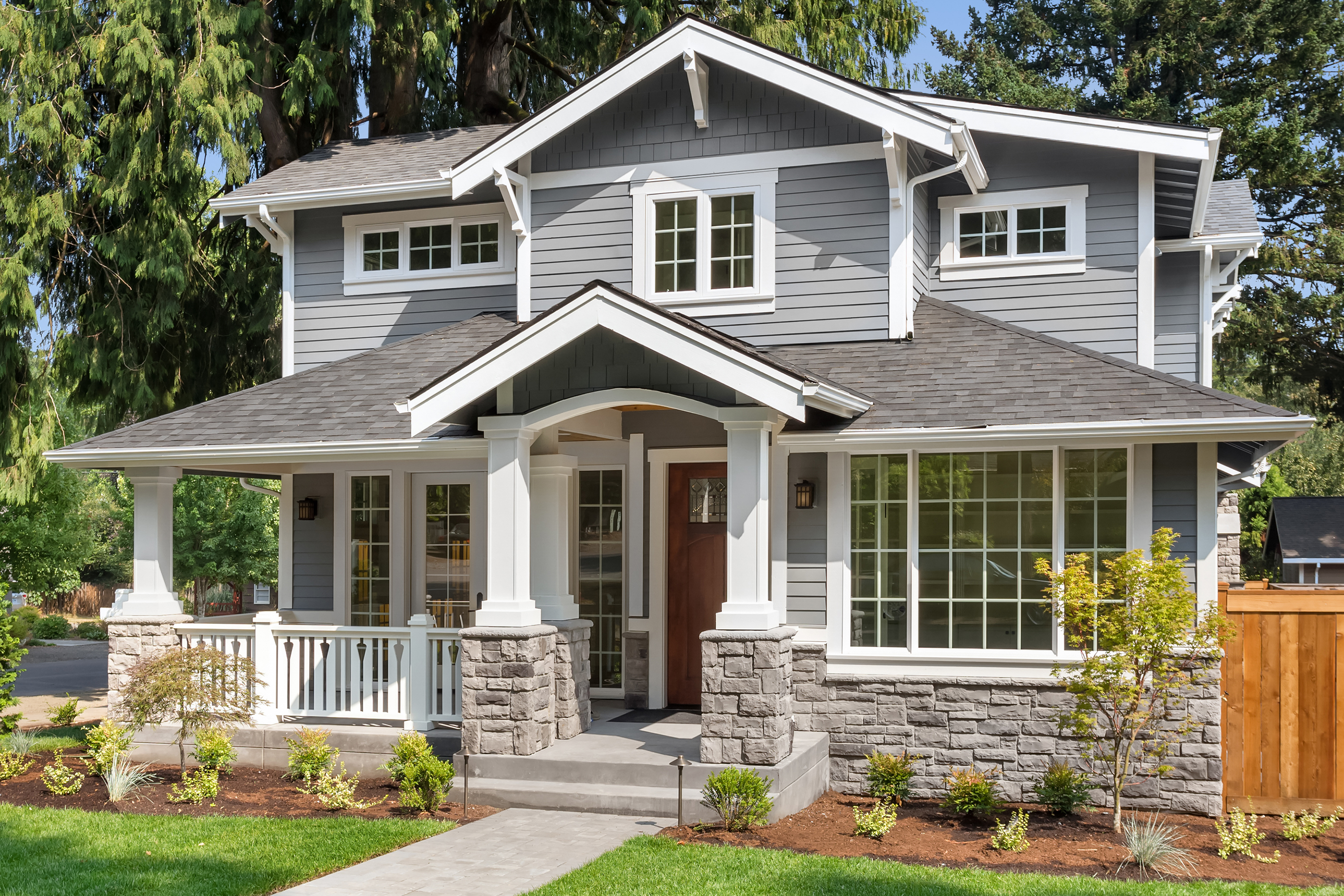 Gray painted home.