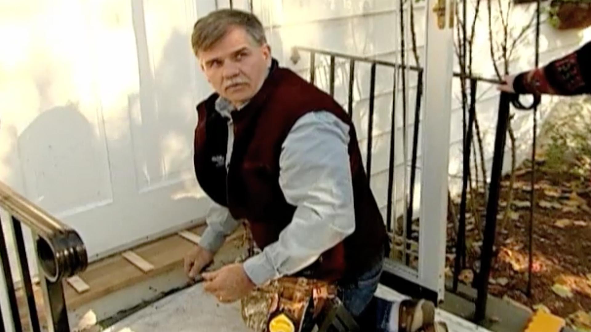 Tom Silva installs a new threshold