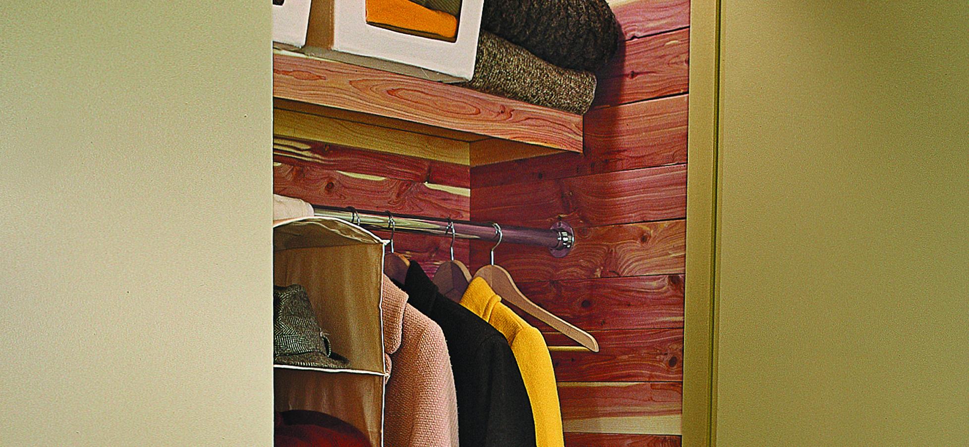 Cedar Lining in Closet.