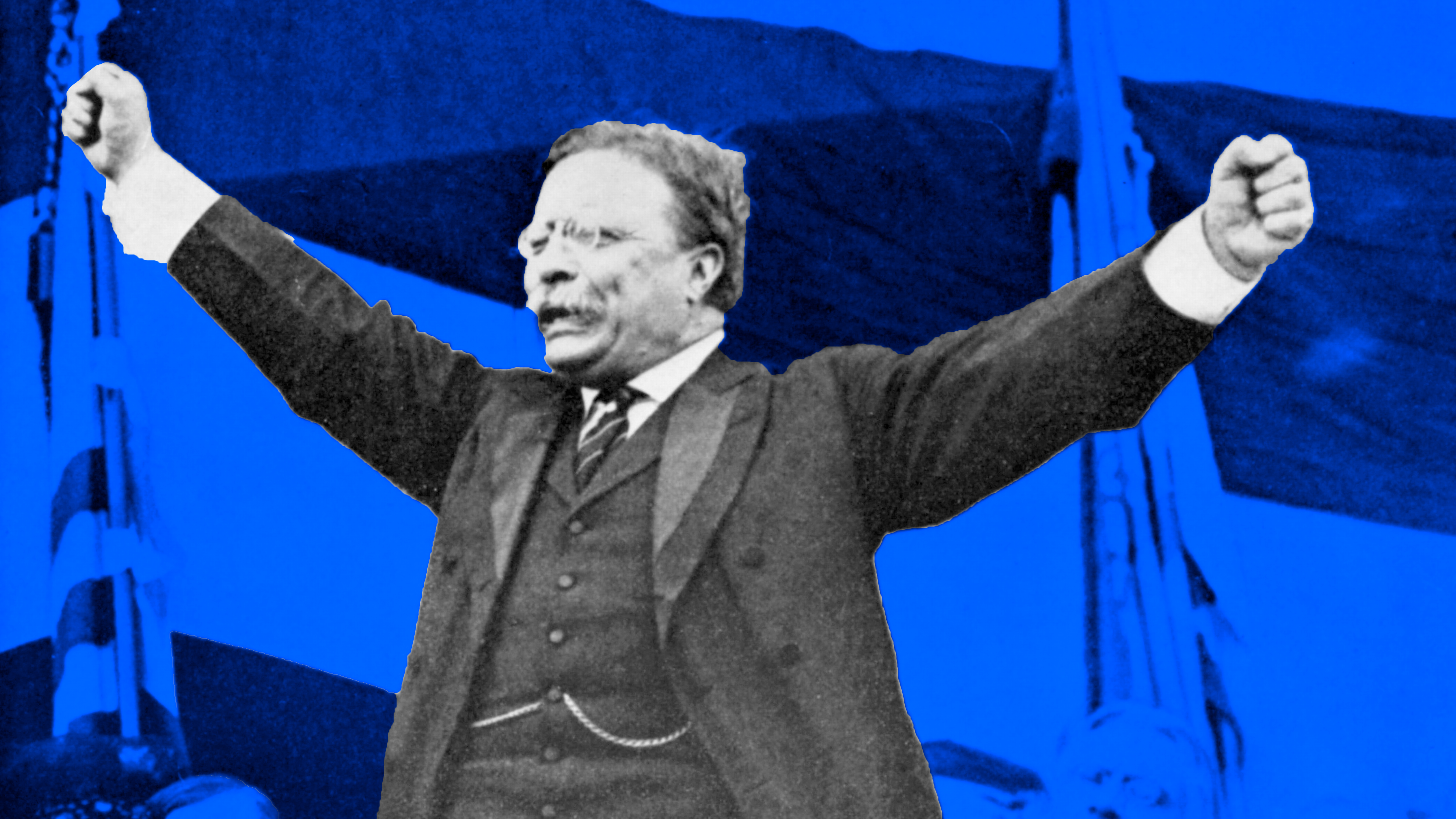 Theodore Roosevelt makes a speech as president.