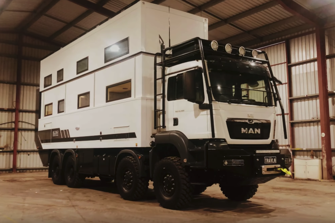 Is this two-story RV just too big?