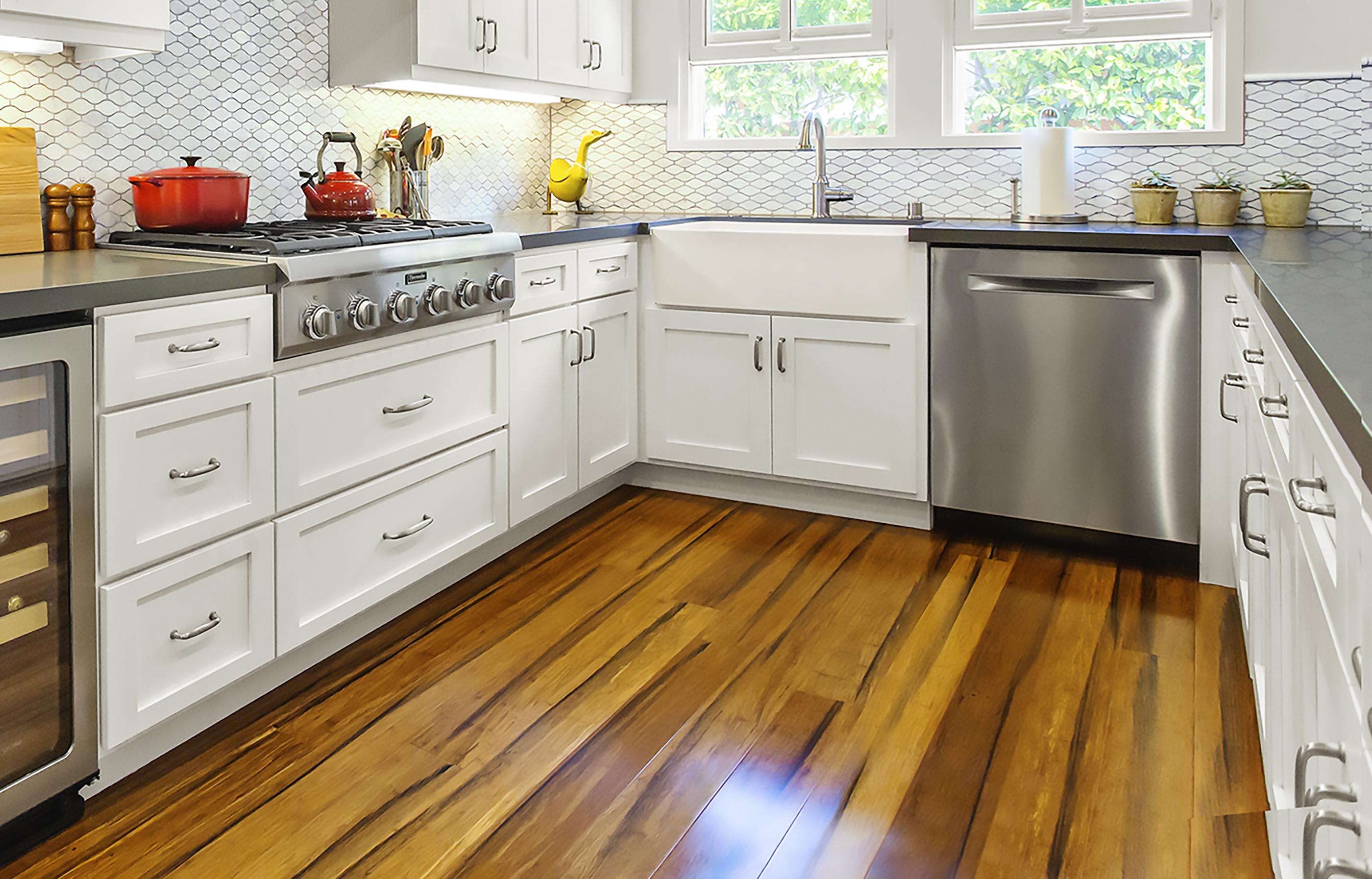 Bamboo Hardwood Flooring In Kitchen