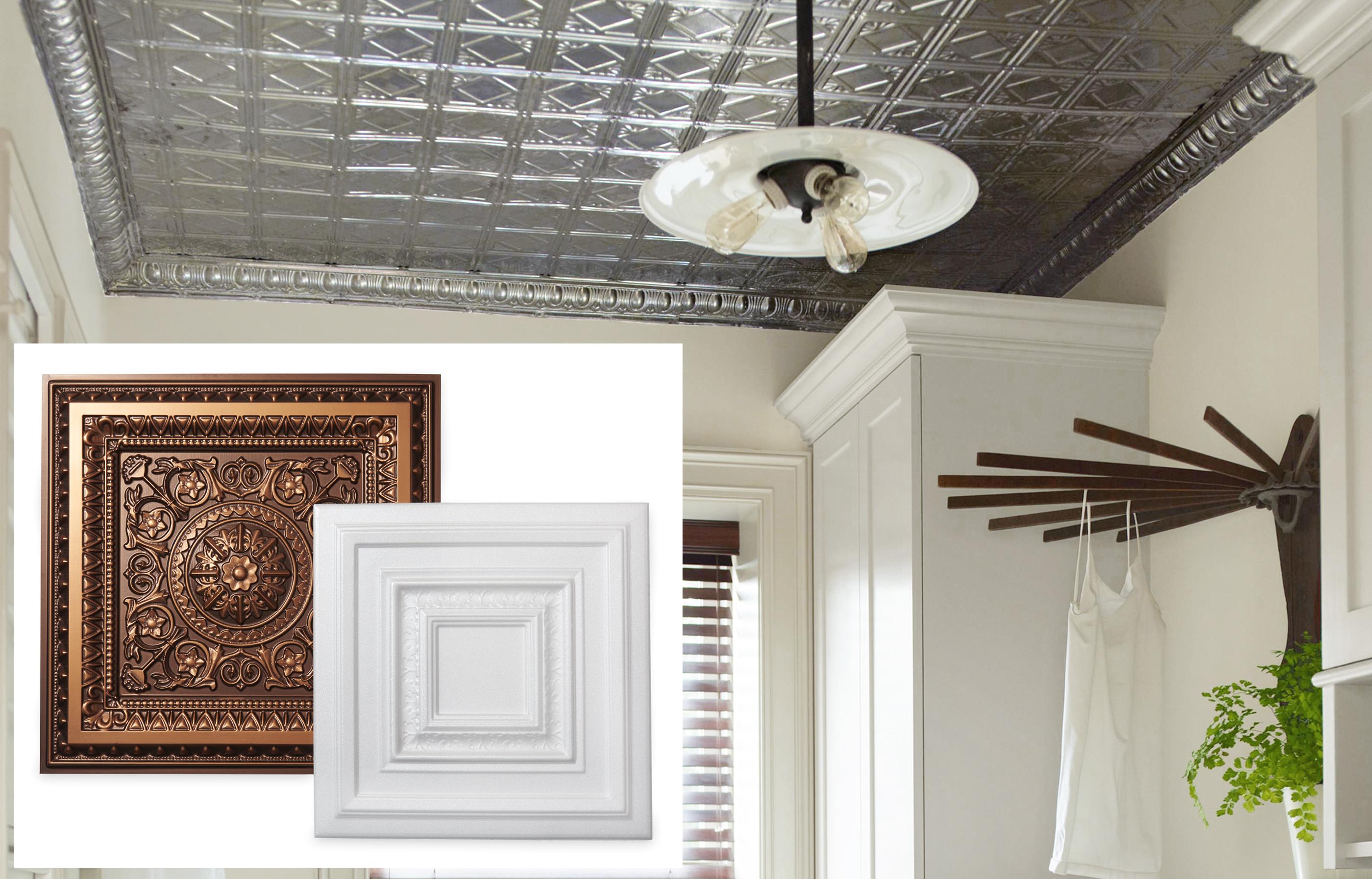 PVC Rosette Patern Ceiling Tiles By La Scala