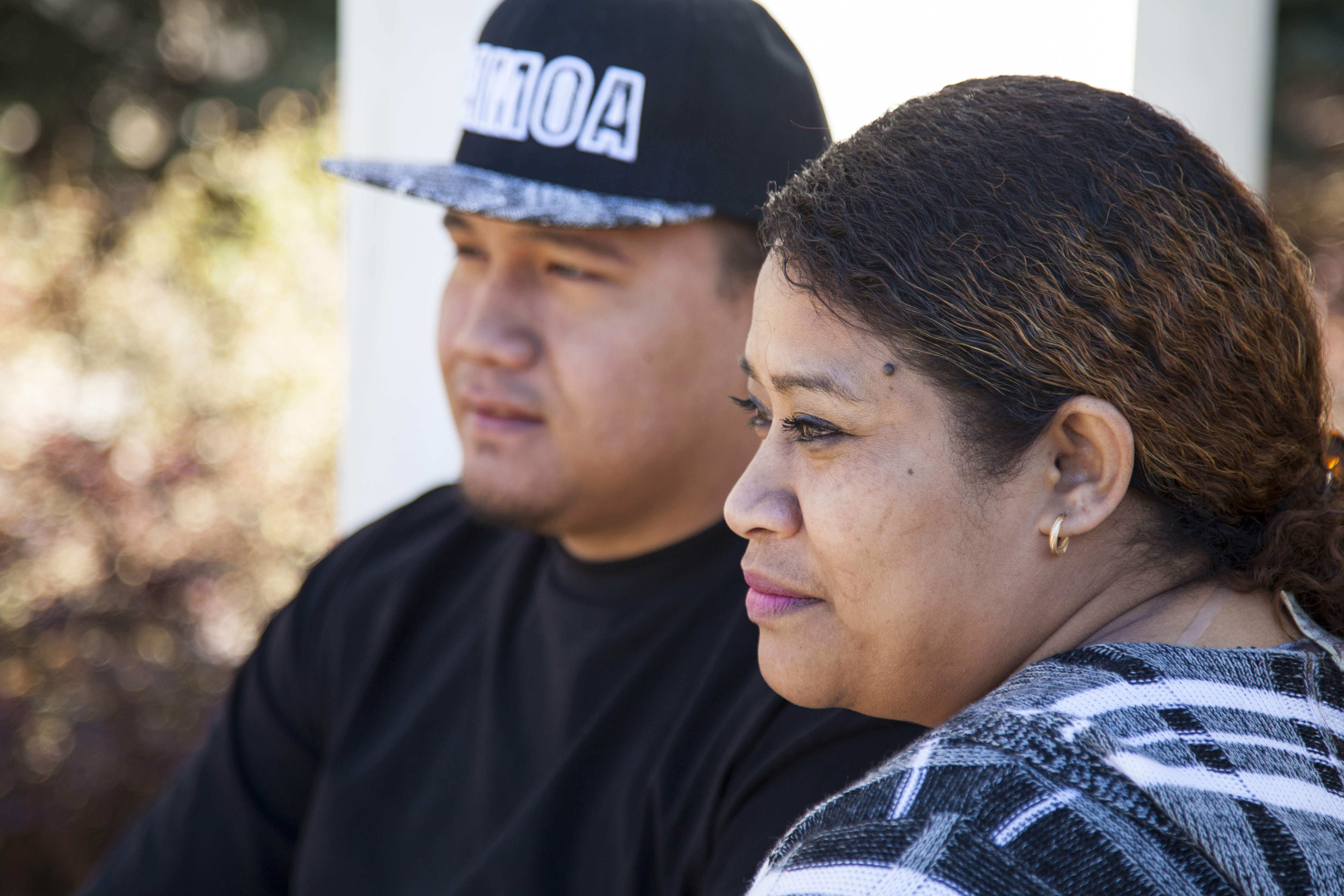 In this undated image provided by nonprofit advocacy and legal group Equally American, Pale Tuli, left, and Rosavita Tuli, both American Samoans and individual plaintiffs in a lawsuit against the United States seeking full U.S. citizenship, pose for a photo in Salt Lake City.