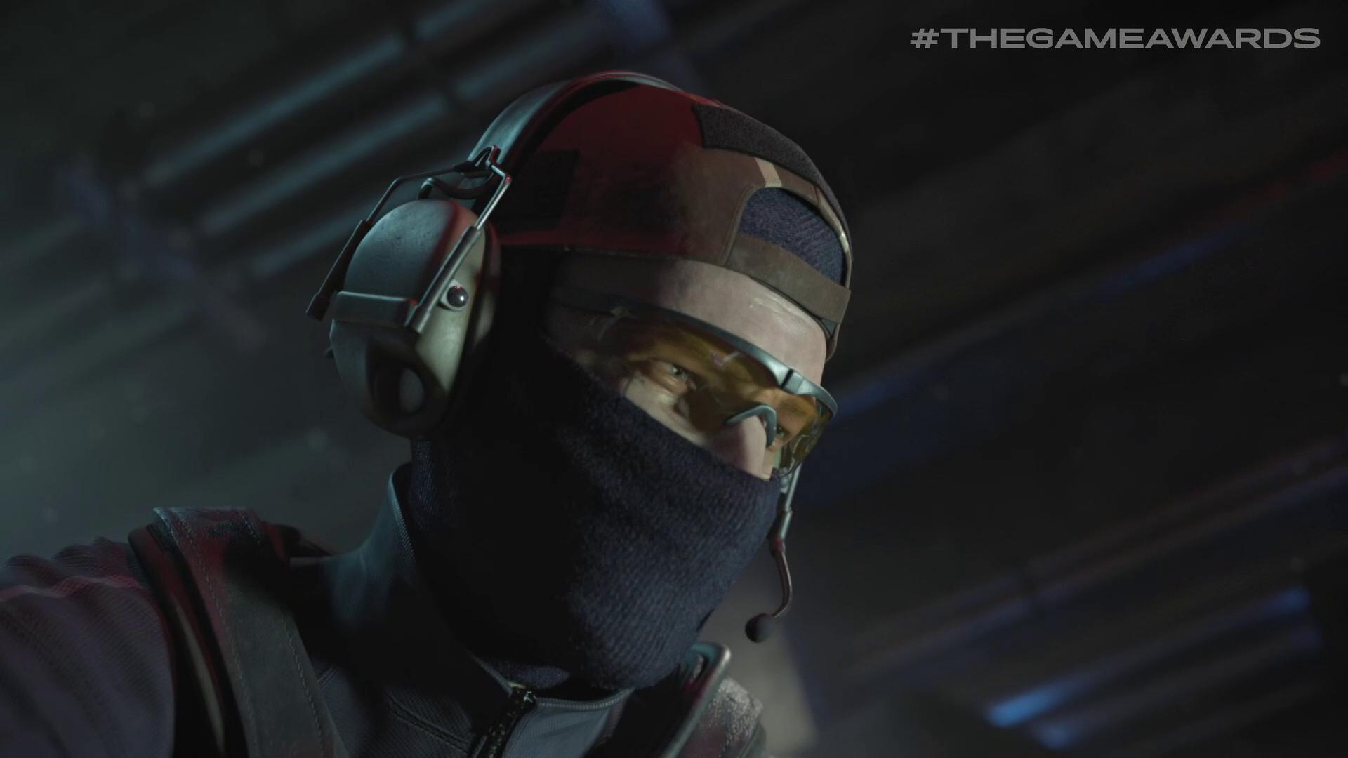 a mercenary wearing a balaclava and headset in Nine to Five